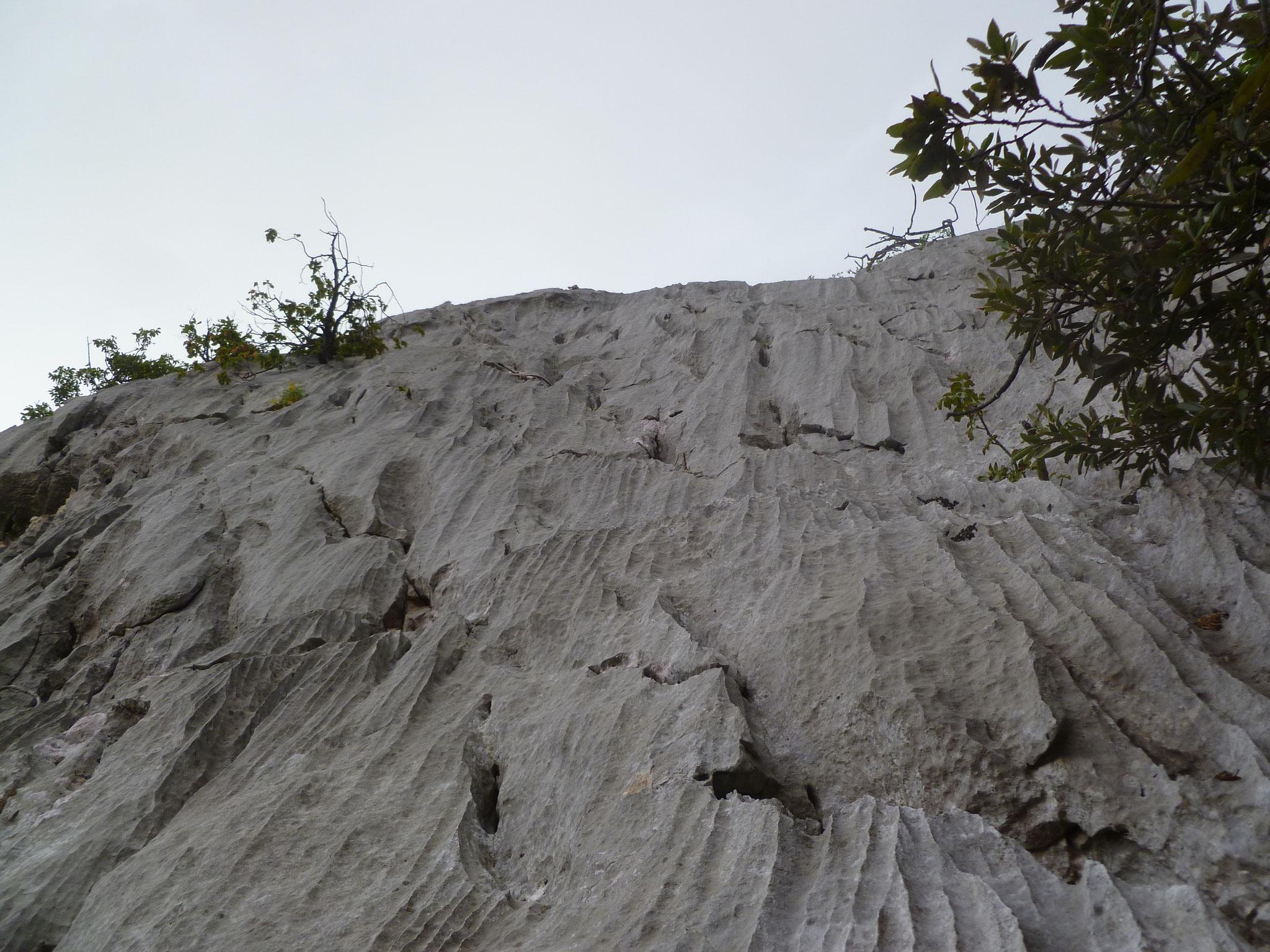 Genialer Fels in der Ausstiegslänge
