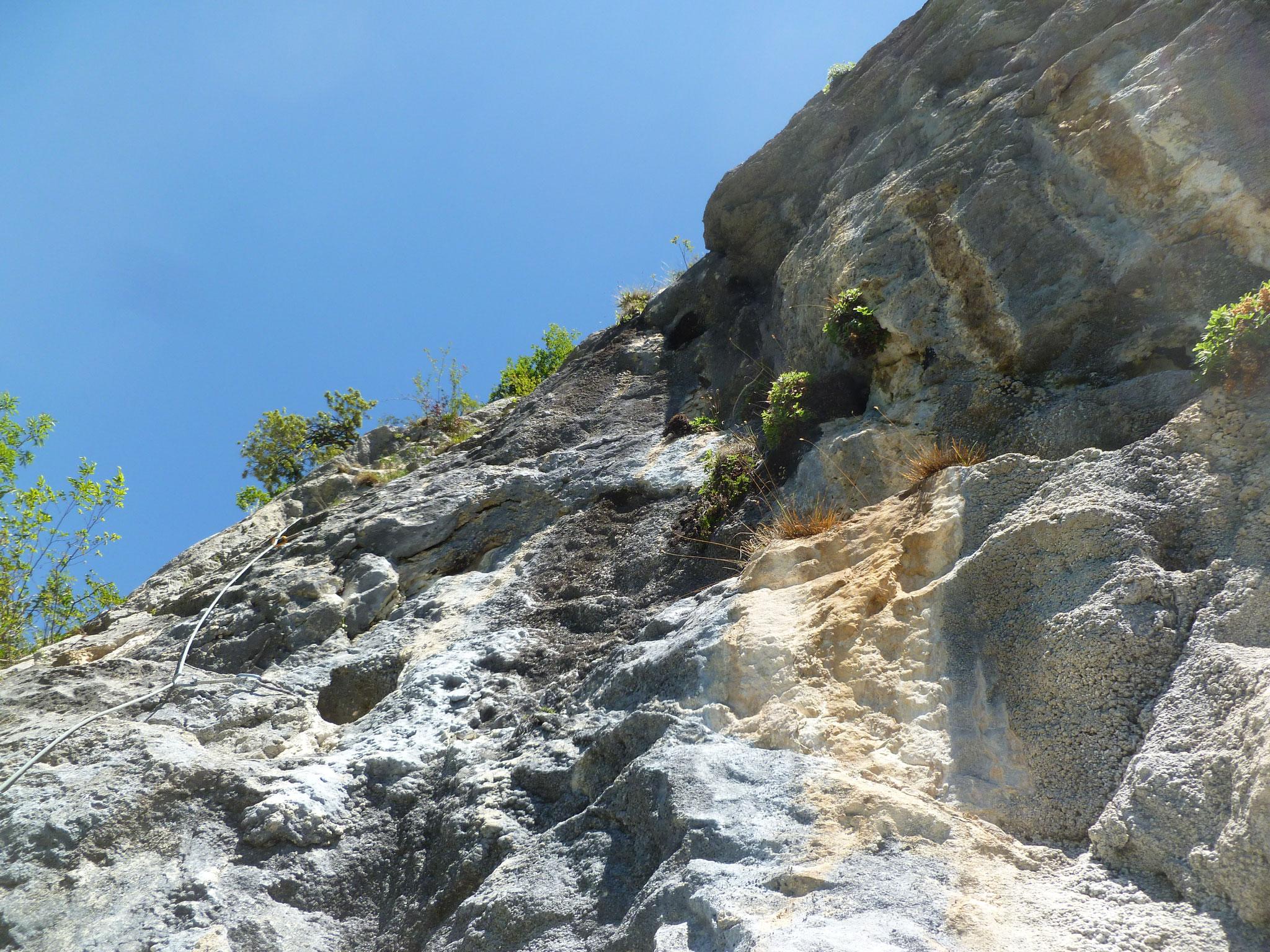 Toller Fels auch in der zweiten Länge