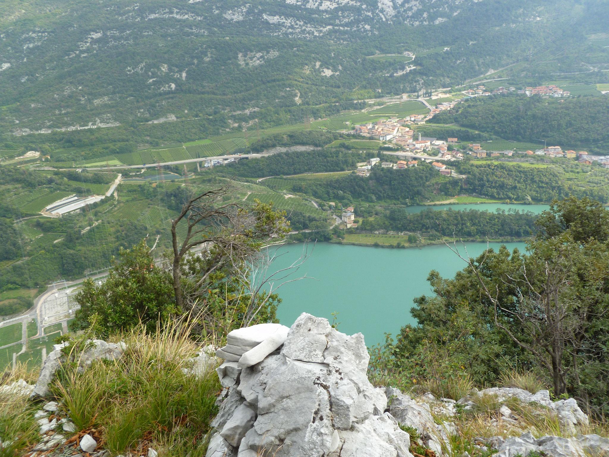 Ausblick vom Ausstieg auf den Lago San Massenza