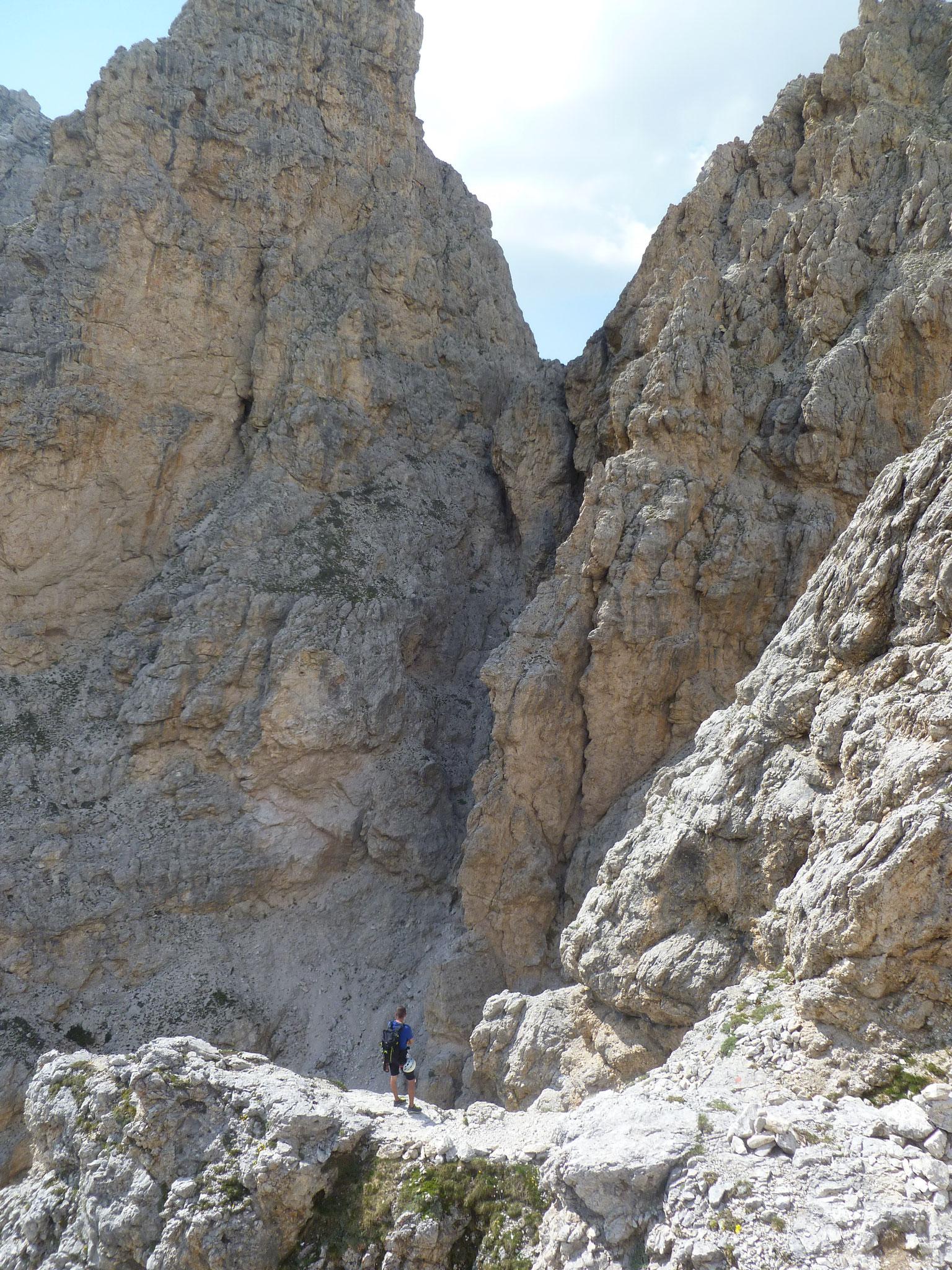 ...und doch beeindruckender Abstiegsweg