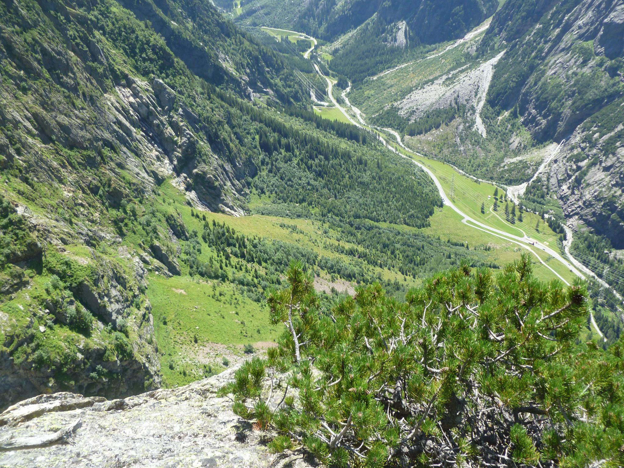 Am Ausstieg gibt´s eine nette Aussicht ins Tal