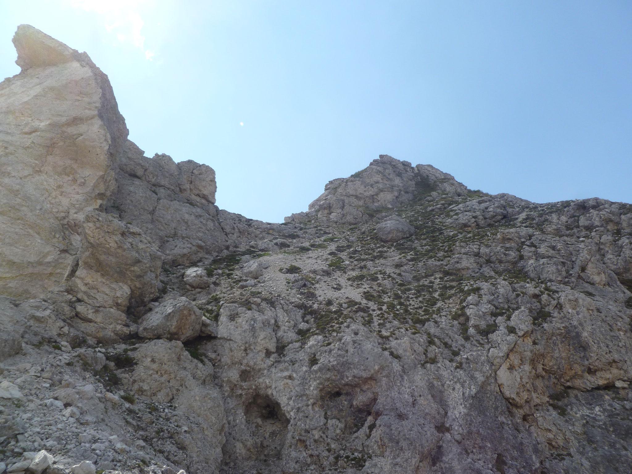 Endlich! Nur mehr ein paar Meter zum Gipfel!