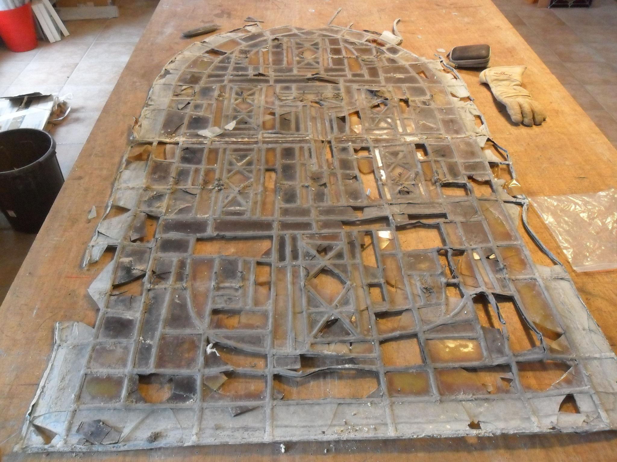 restauration d'un vitrail Chigot- cathédrale St Fulcran-Lodève