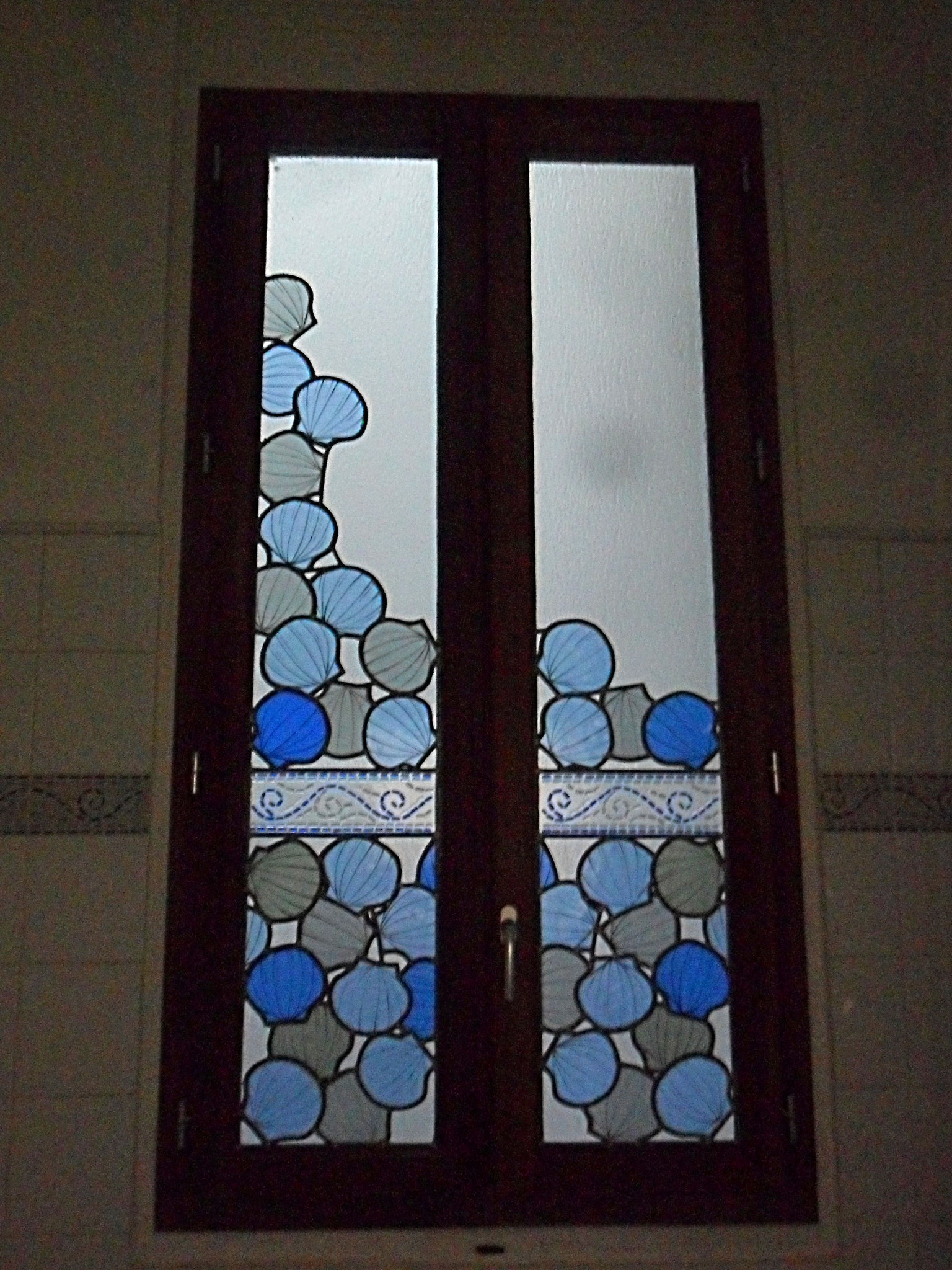 Vitrail Coquilles St Jacques -Art du Vitrail