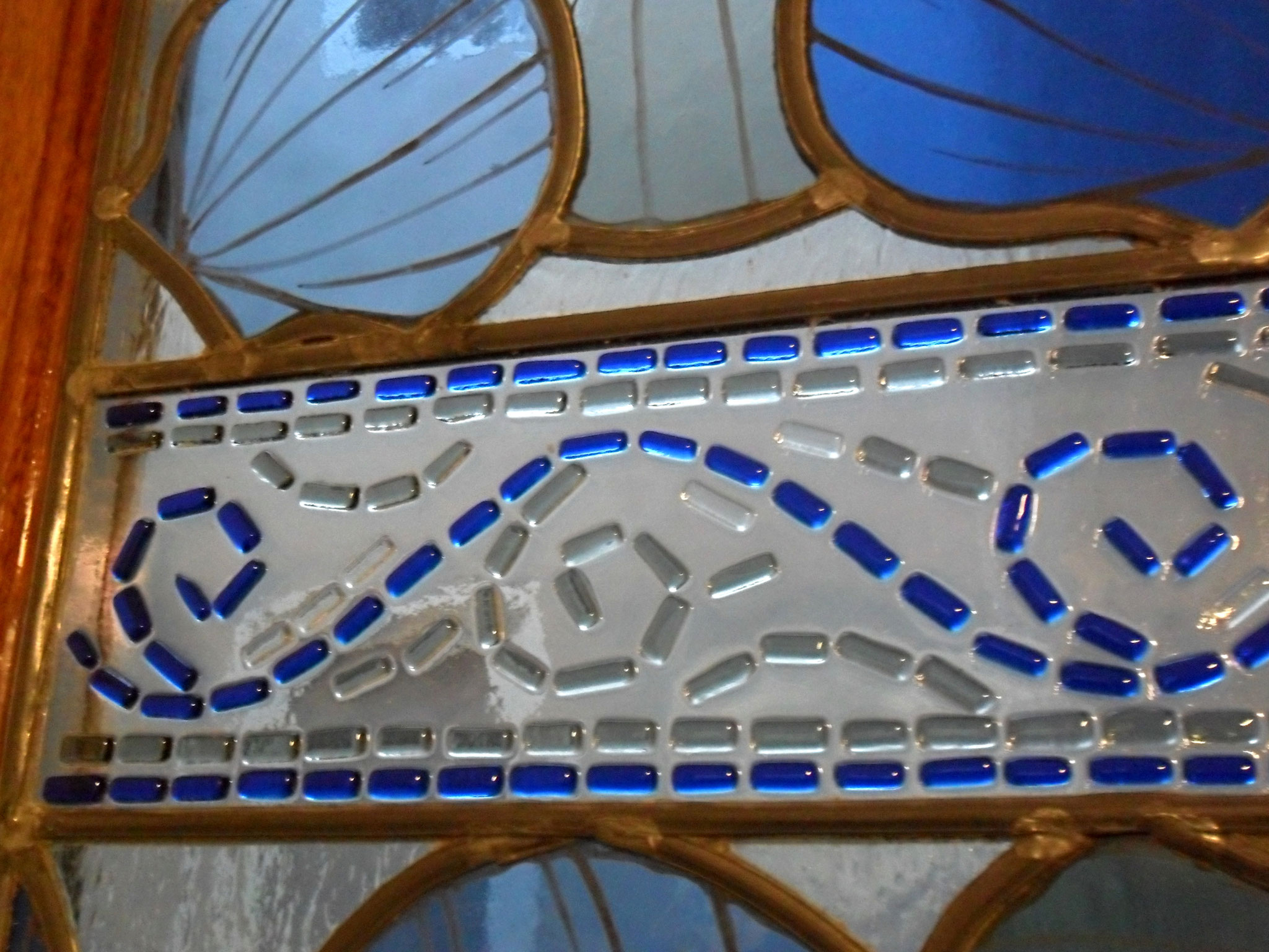 Détail mosaique fusing - art du vitrail