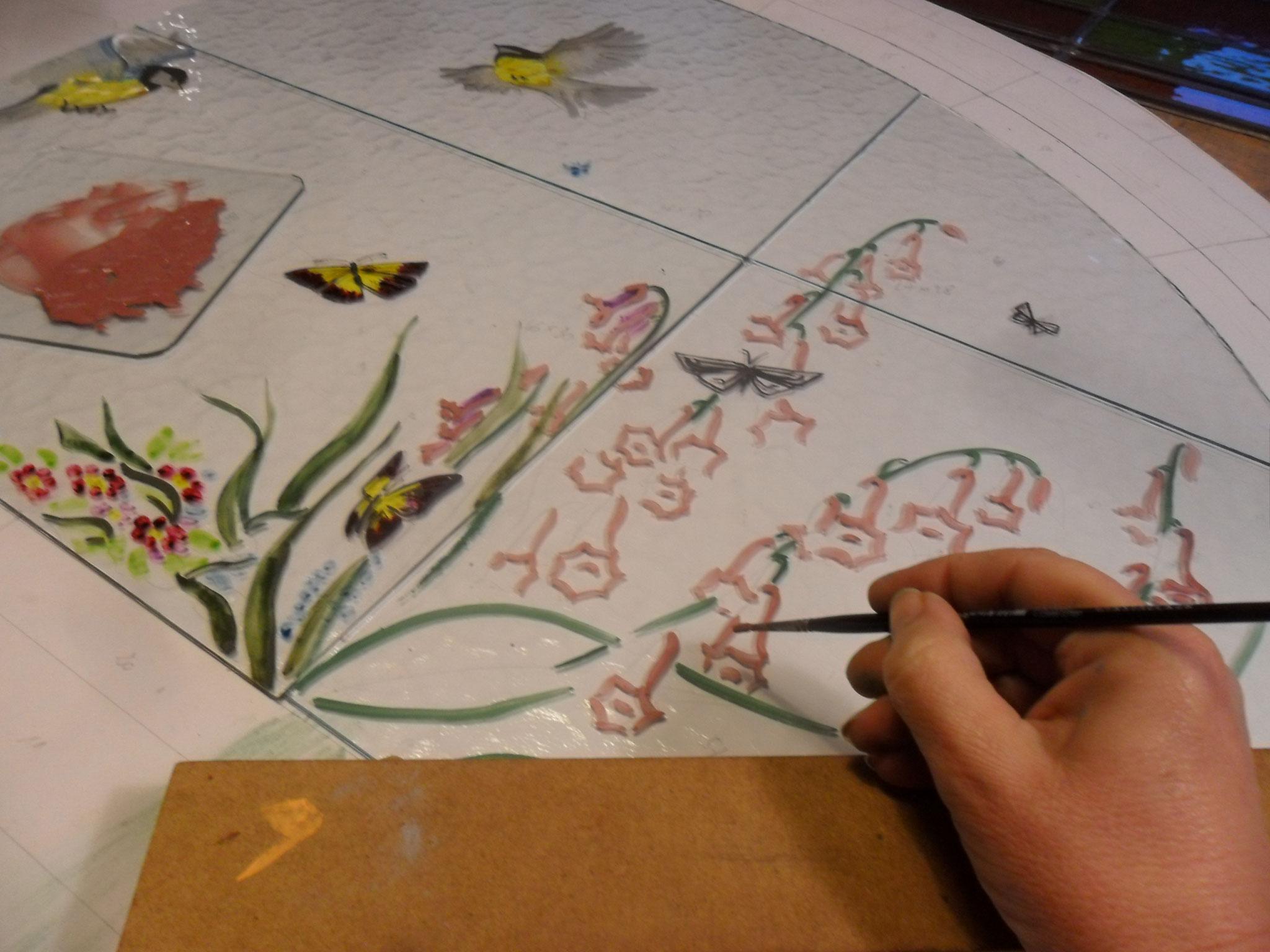 Peinture sur verre- Anne Salvagnac