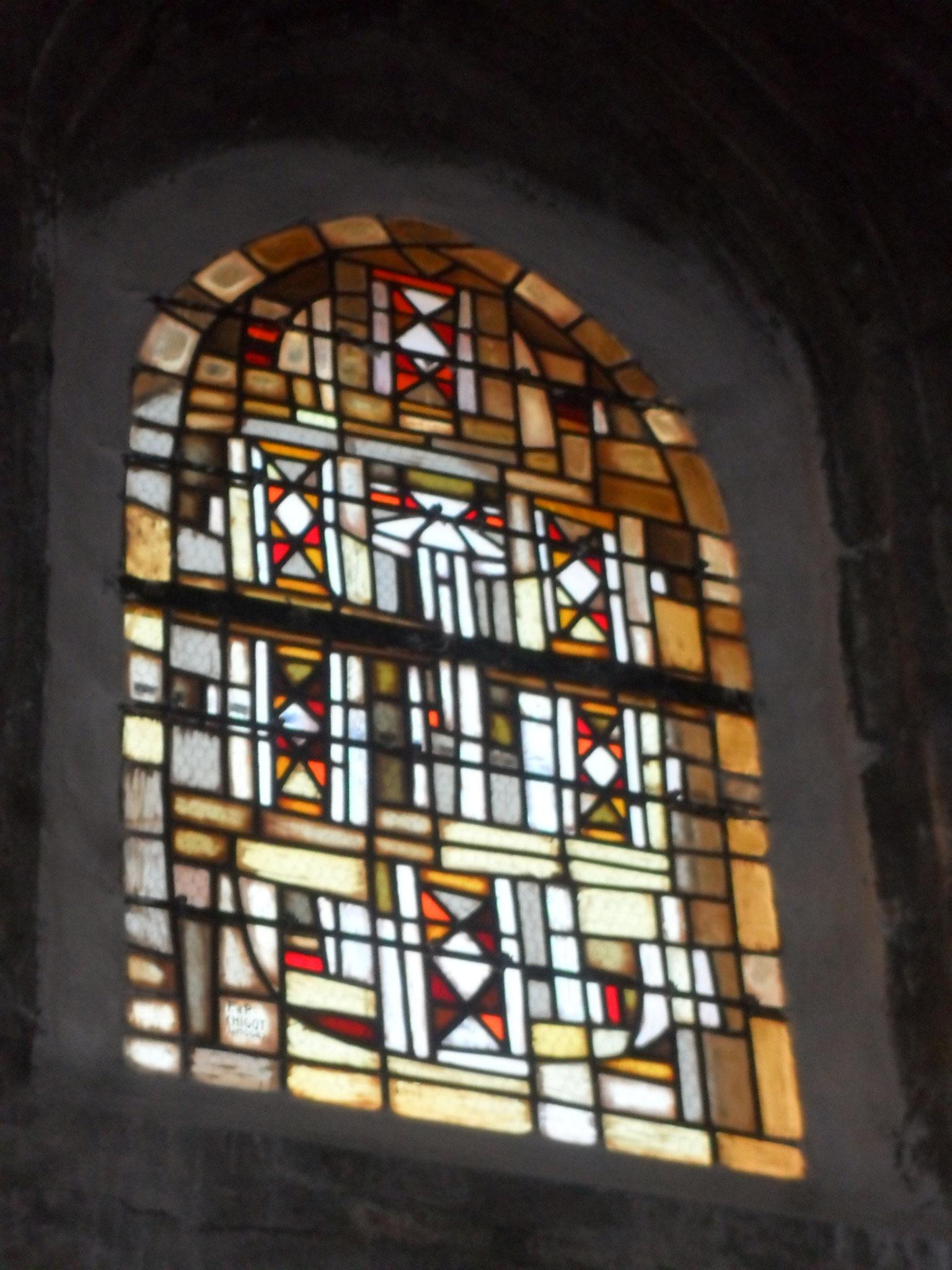 Cathédrale St Fulcran Lodève - vitrail-languedoc