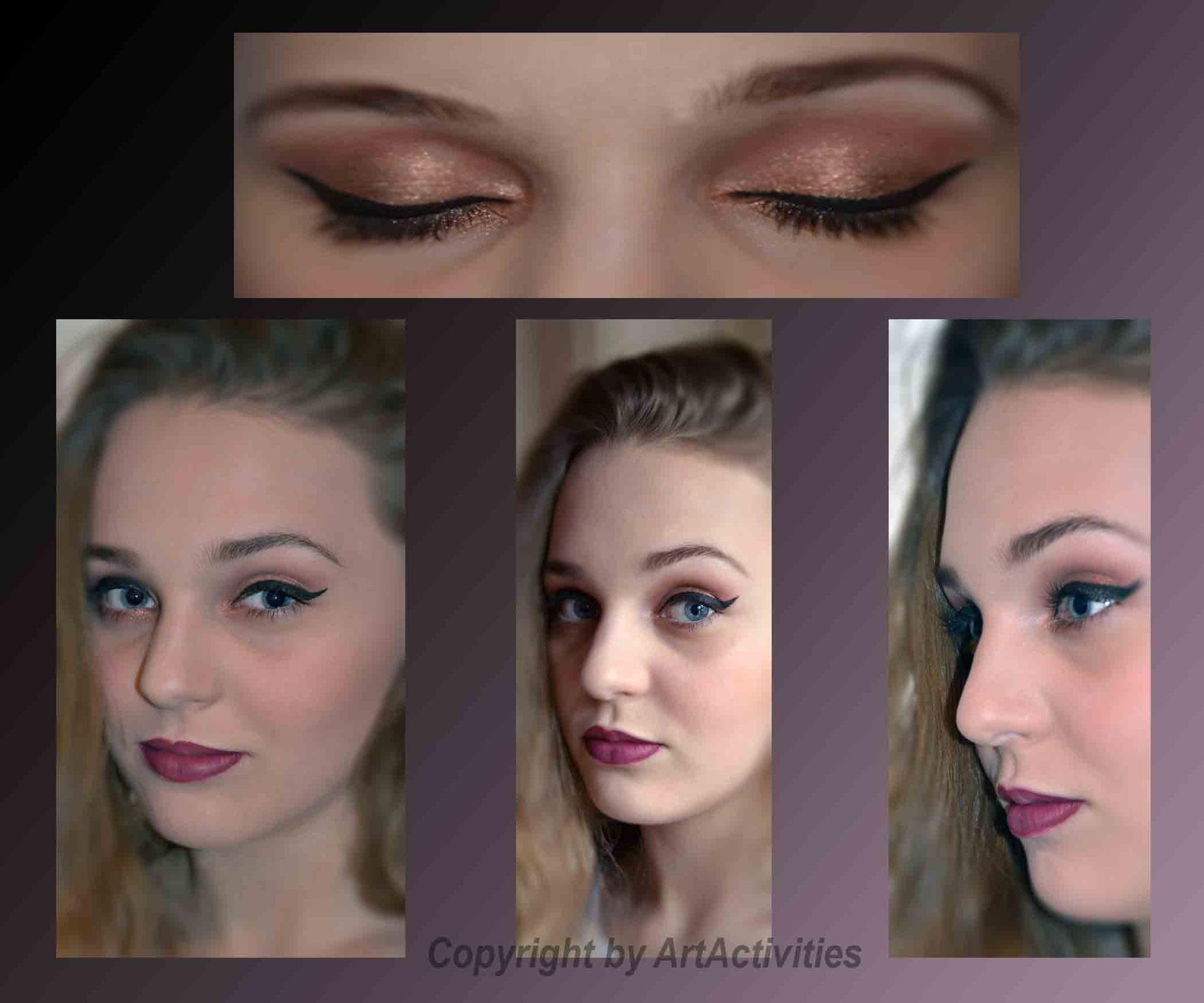 Visagistik,Abend Make Up, Model Lara Koinig