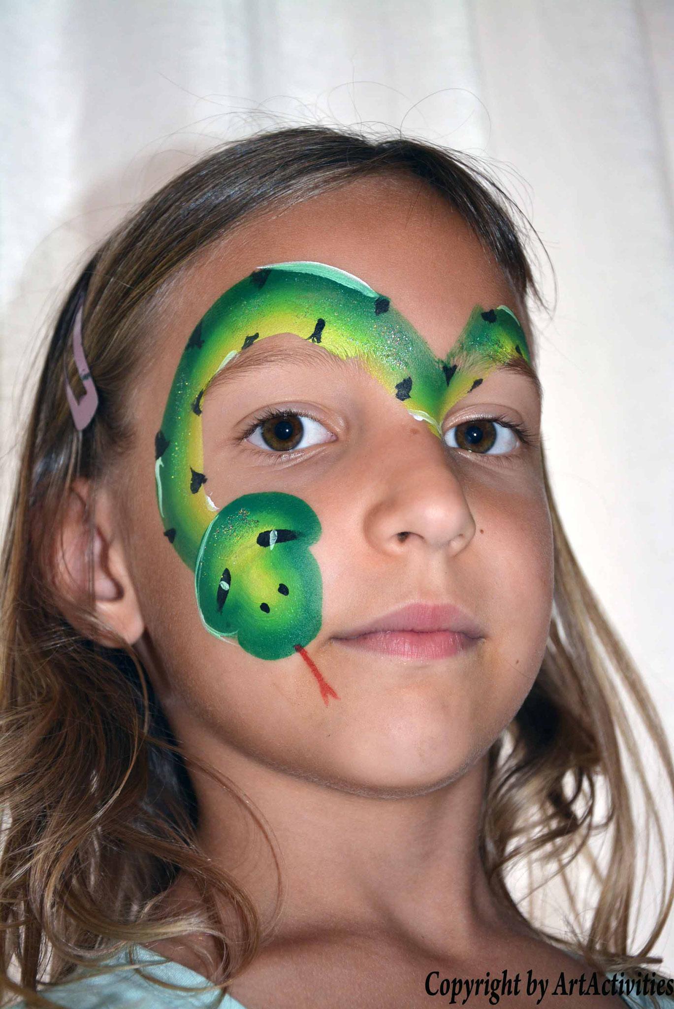 Kinderschminken/Facepainting Schlange