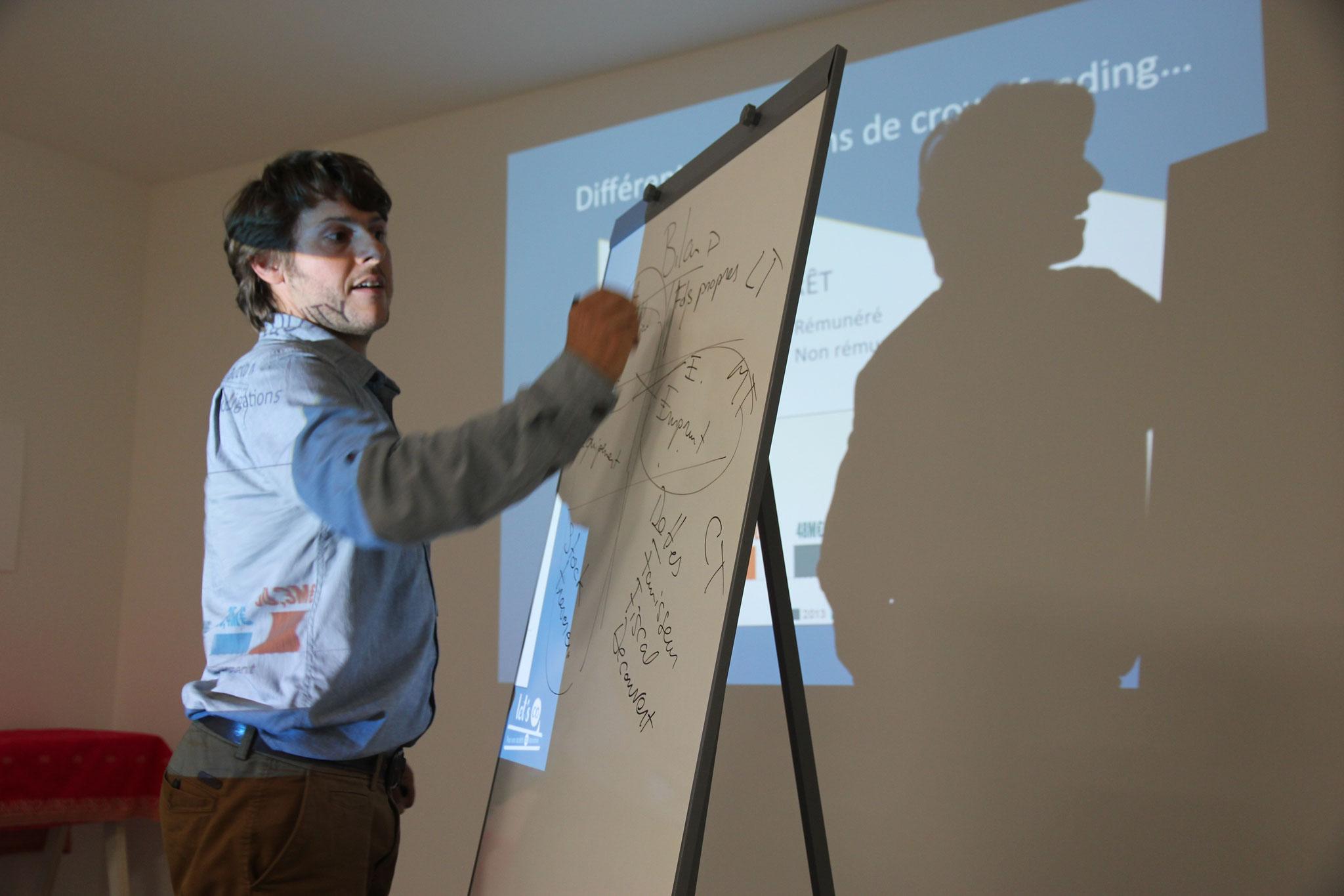 Sylvain, intervenant sur le financement participatif (formateur externe)