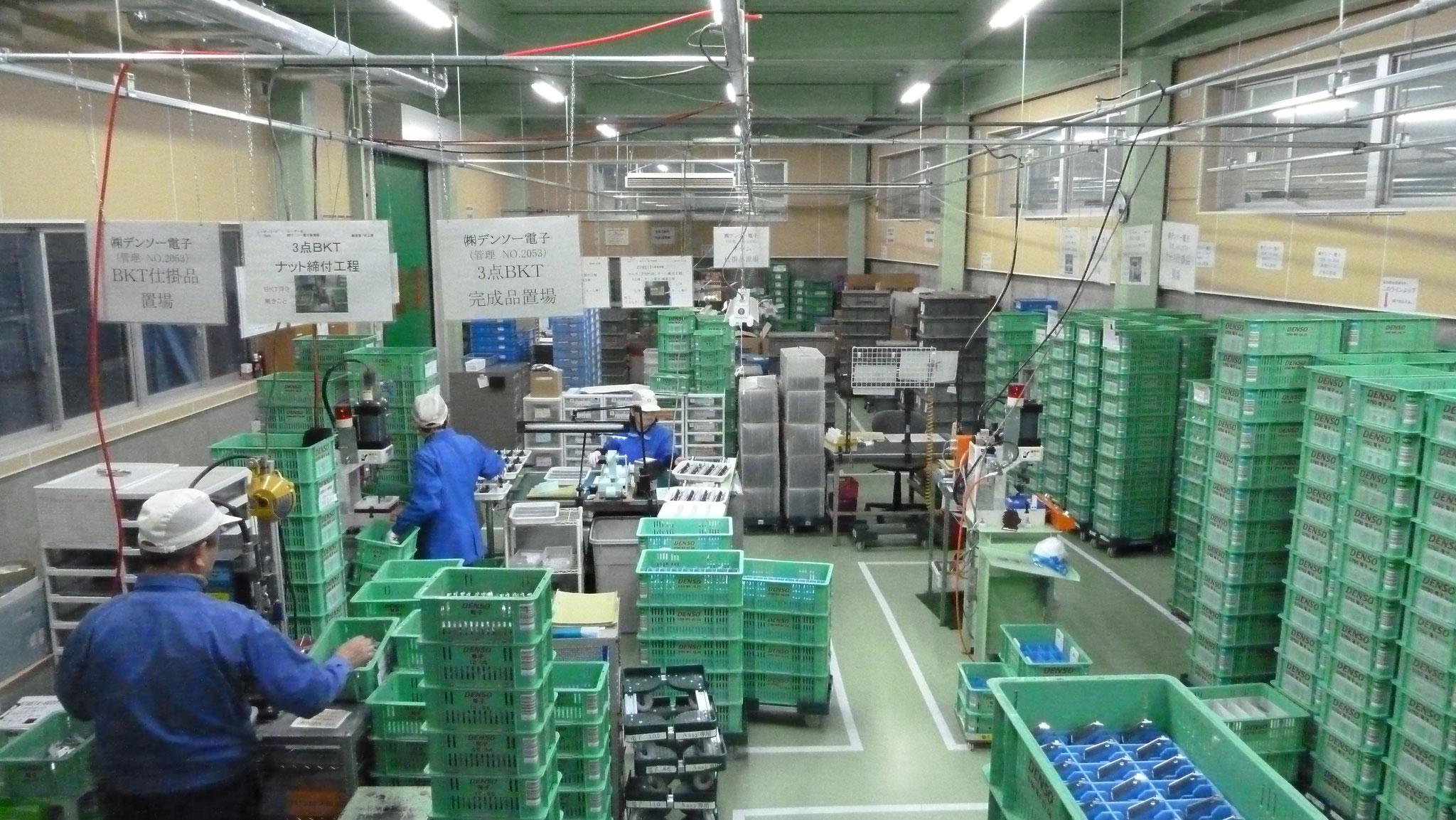 第四工場1F アッセンブリ工程及び仕上検査工程