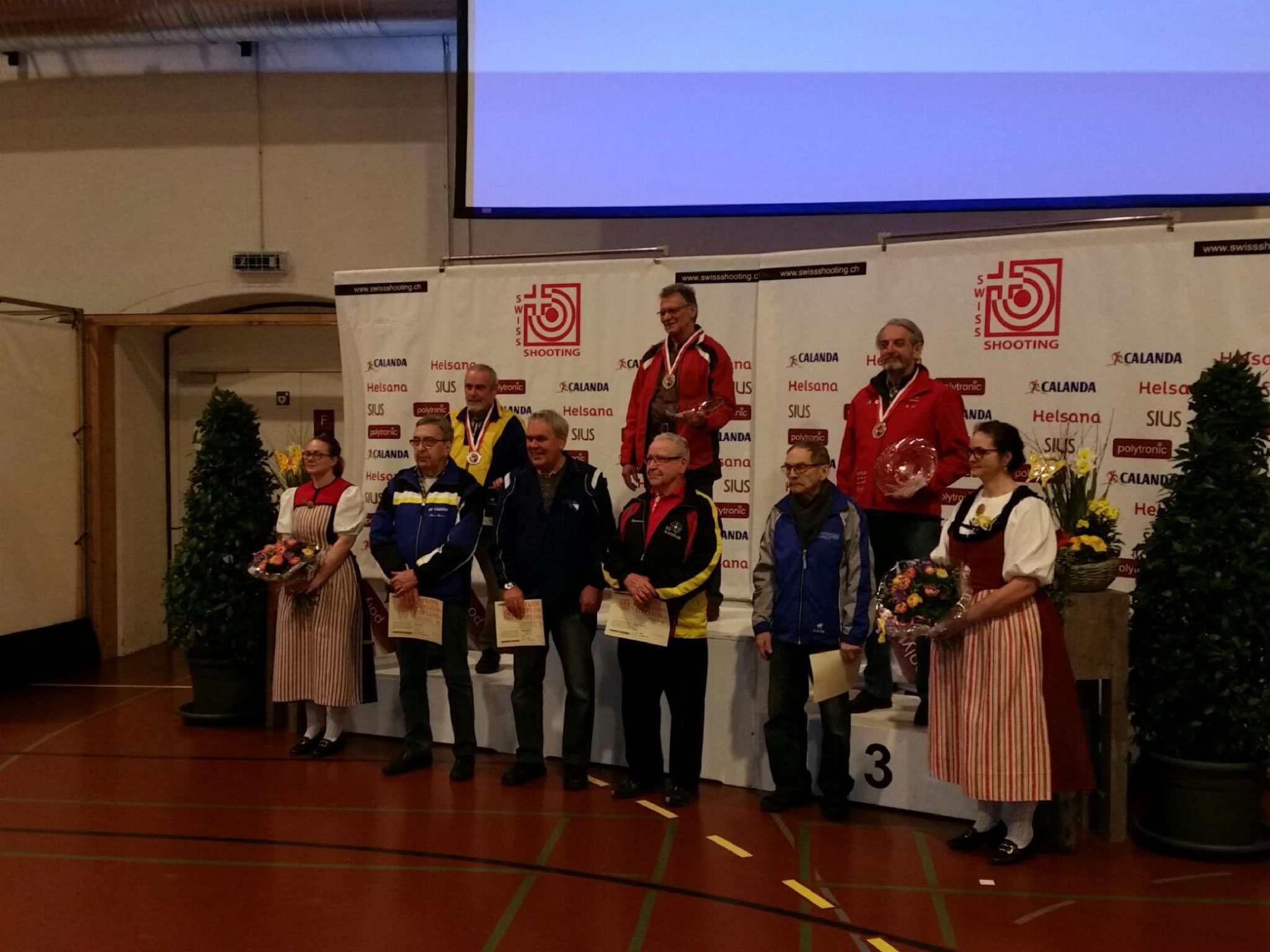 10m Schweizermeisterschaft 2017 in Bern - Seniorveteranen Auflageschiessen 3. Rang Guido Sgier