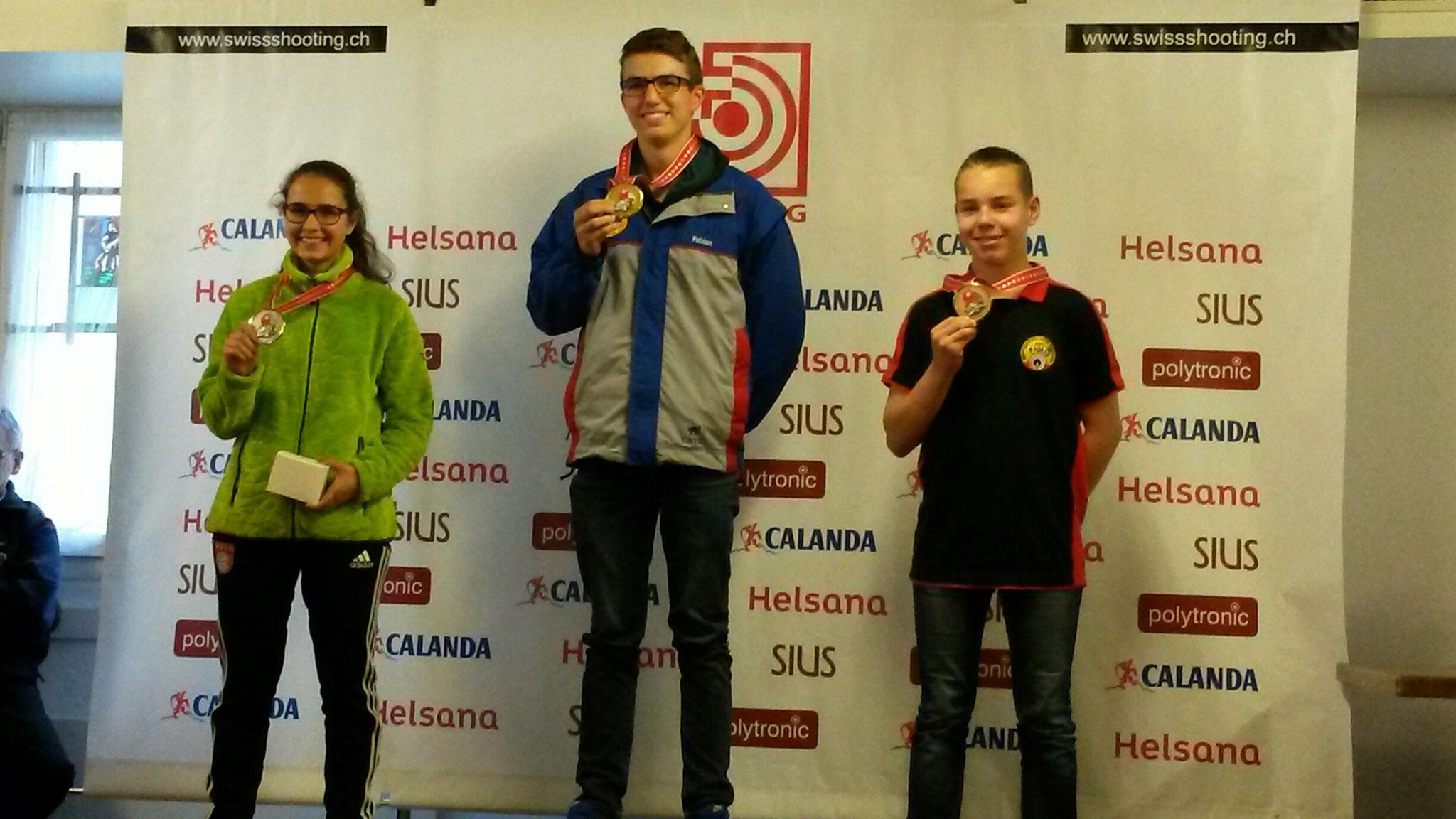 Jugendfinal 2016 - mit Annina T. auf dem Podest (links)