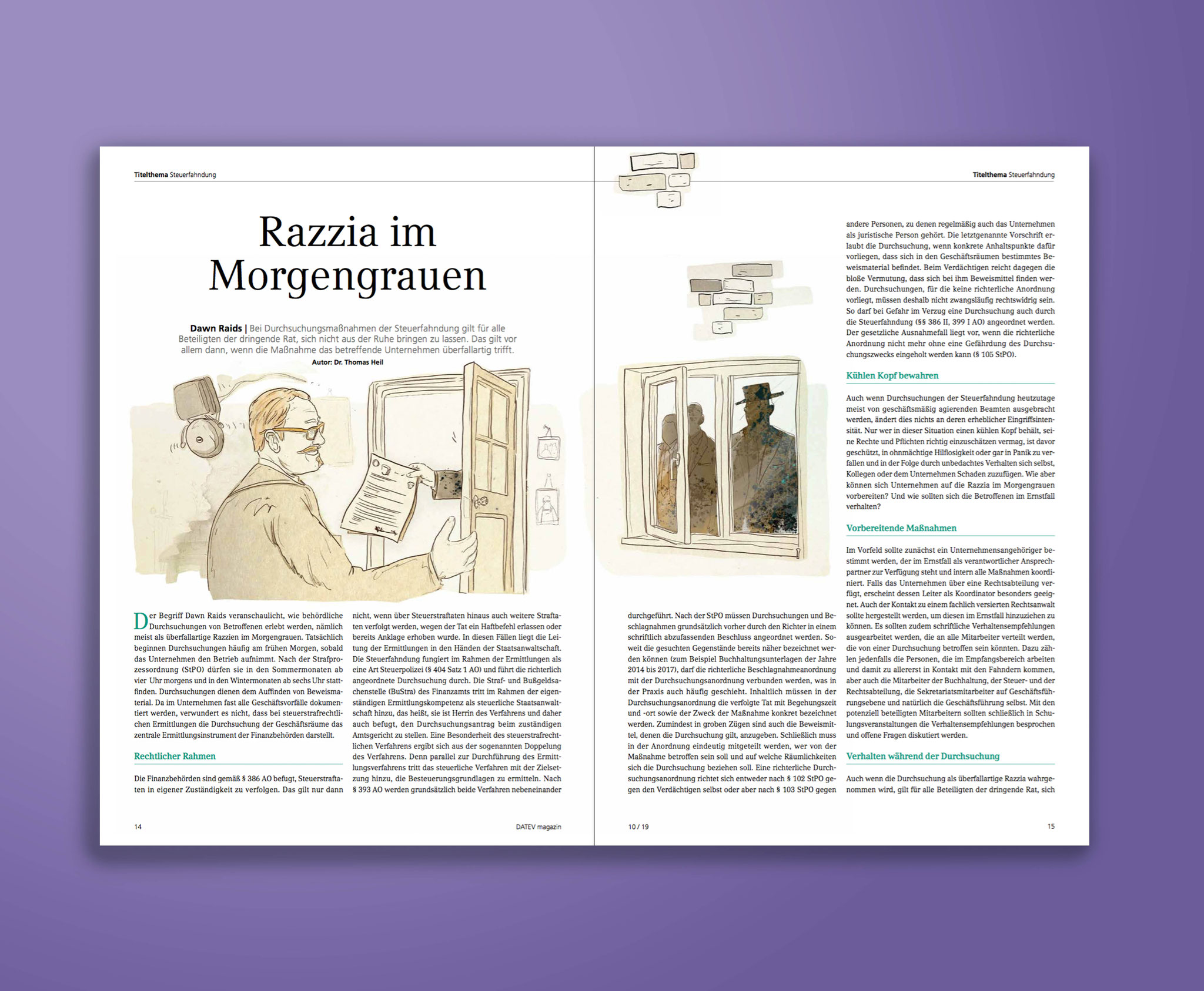 Sascha Düvel Illustration - Editorial Illustrator Münster für Datev Magazin