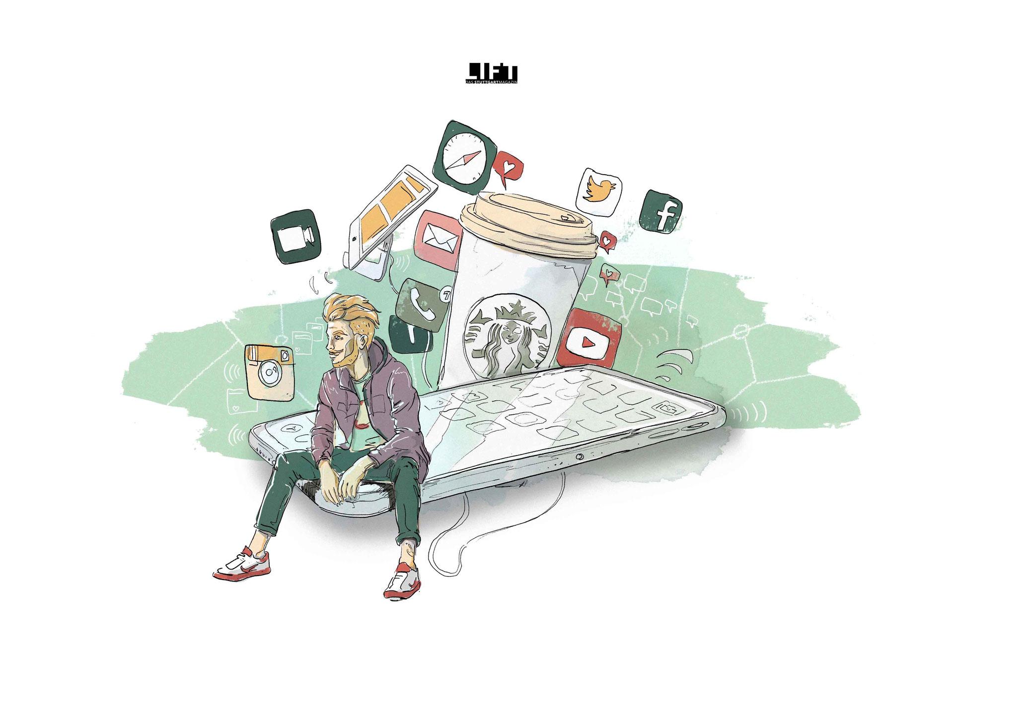 Sascha Düvel Illustration - Editorial Illustration für LIFT