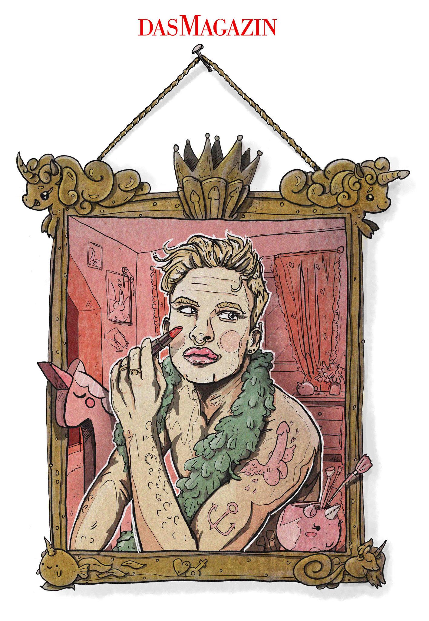 Sascha Düvel Illustration - Editorial Illustration für Das Magazin