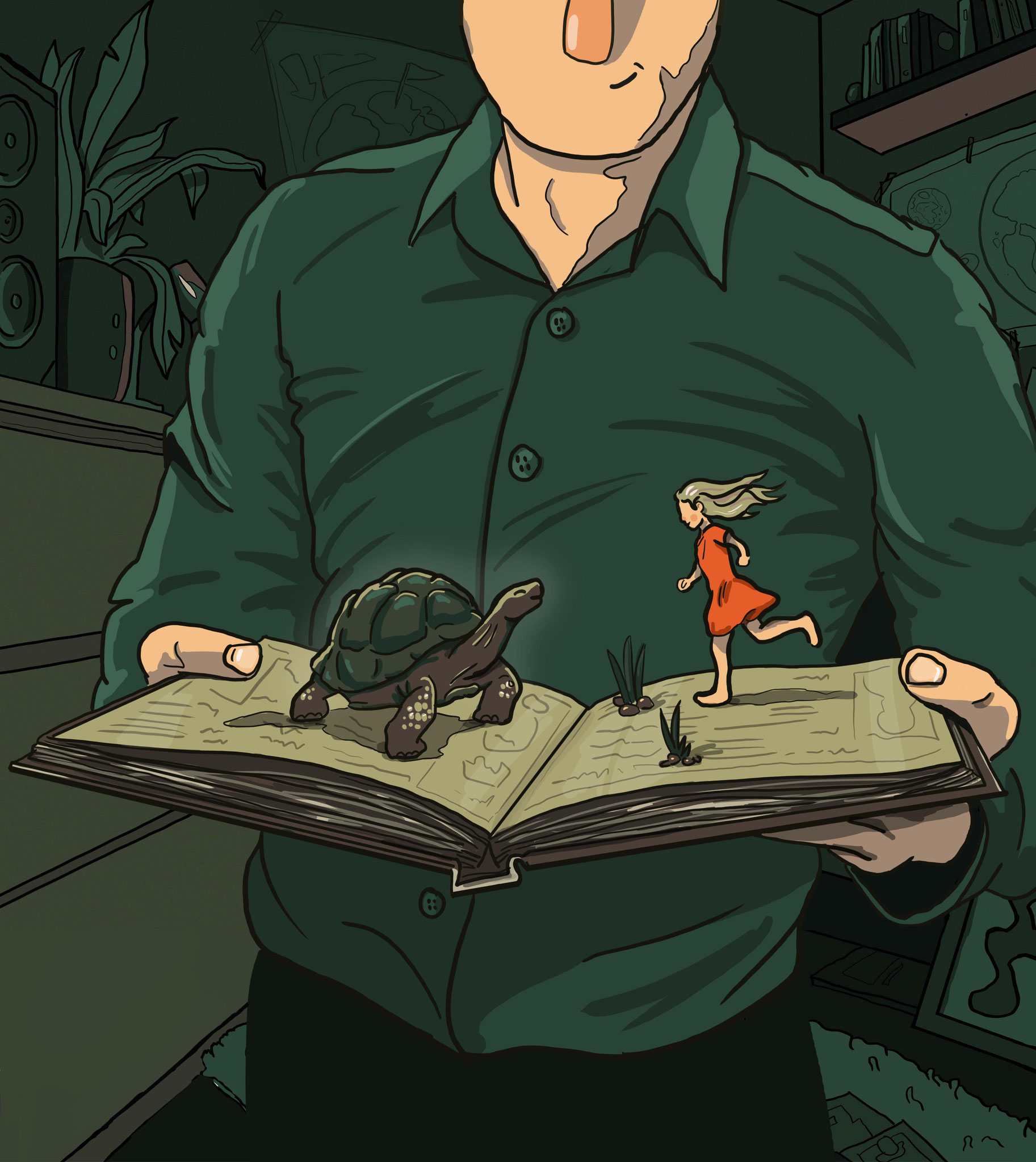 Sascha Düvel Illustration - Buchcover Illustration für Verschwunden