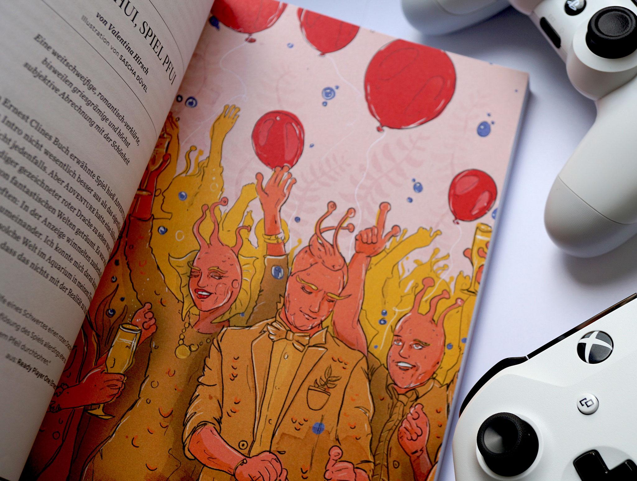 Sascha Düvel Illustration - Editorial Illustraton für WASD Magazin