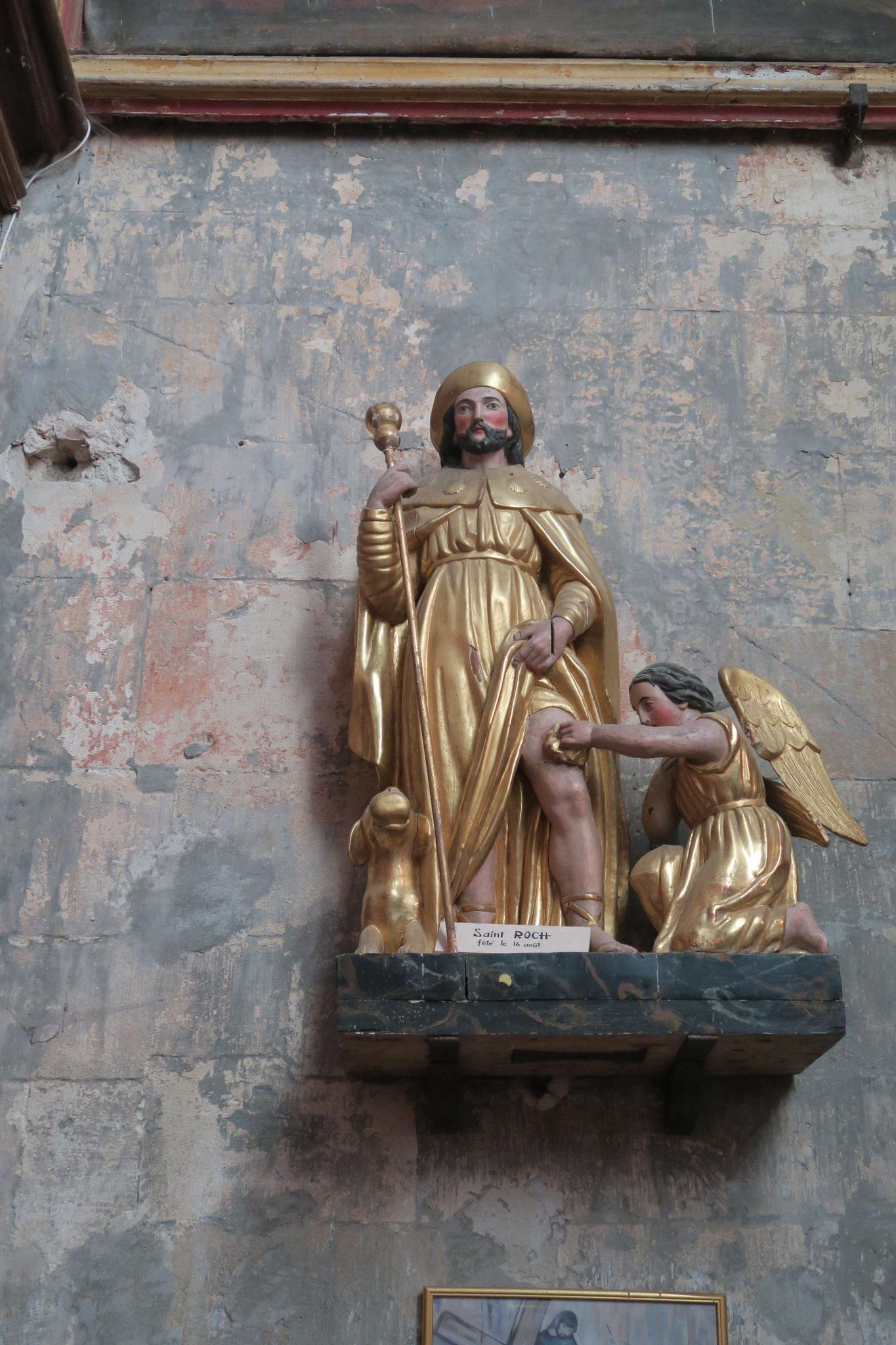 ld: die Heiligenfiguren in der Kirche Notre Dame von Venasque, Vaucluse, Provence