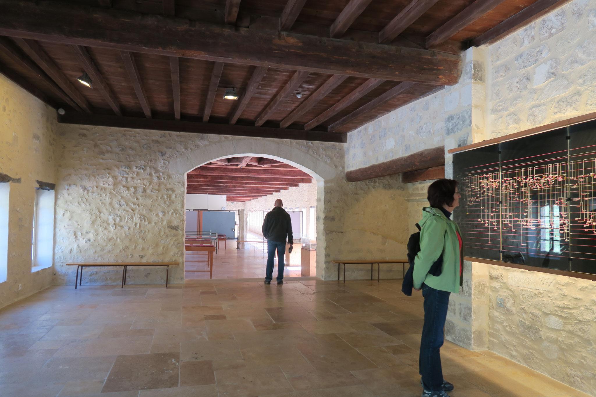 Bild: Tafel mit den Verzweigungen der Zisterzienserklöster in der Abbaye Notre-Dame de Sénanque, Gordes
