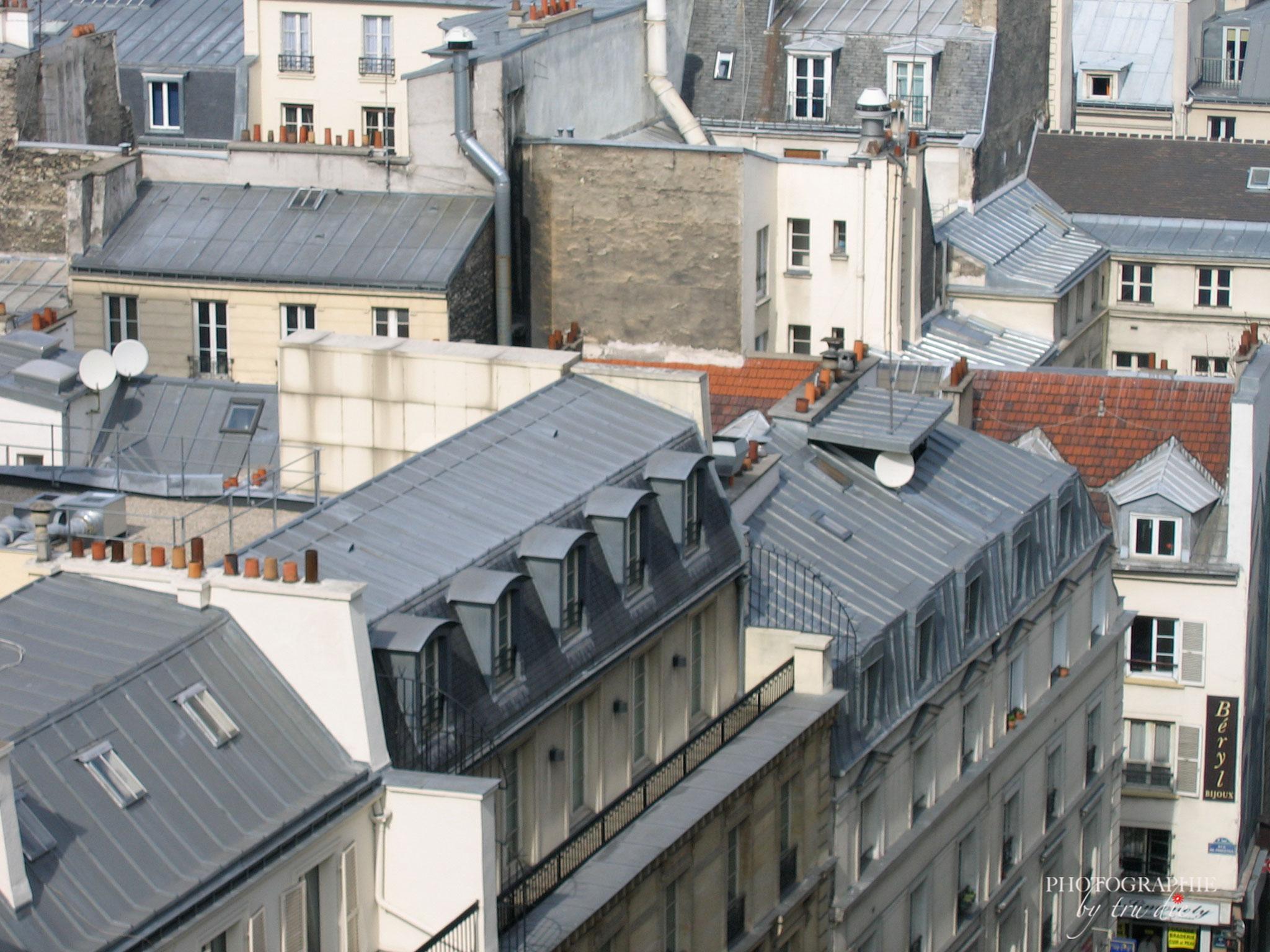 Bild: Aussicht von der Dachterrasse der Galeries Lafayette, Paris