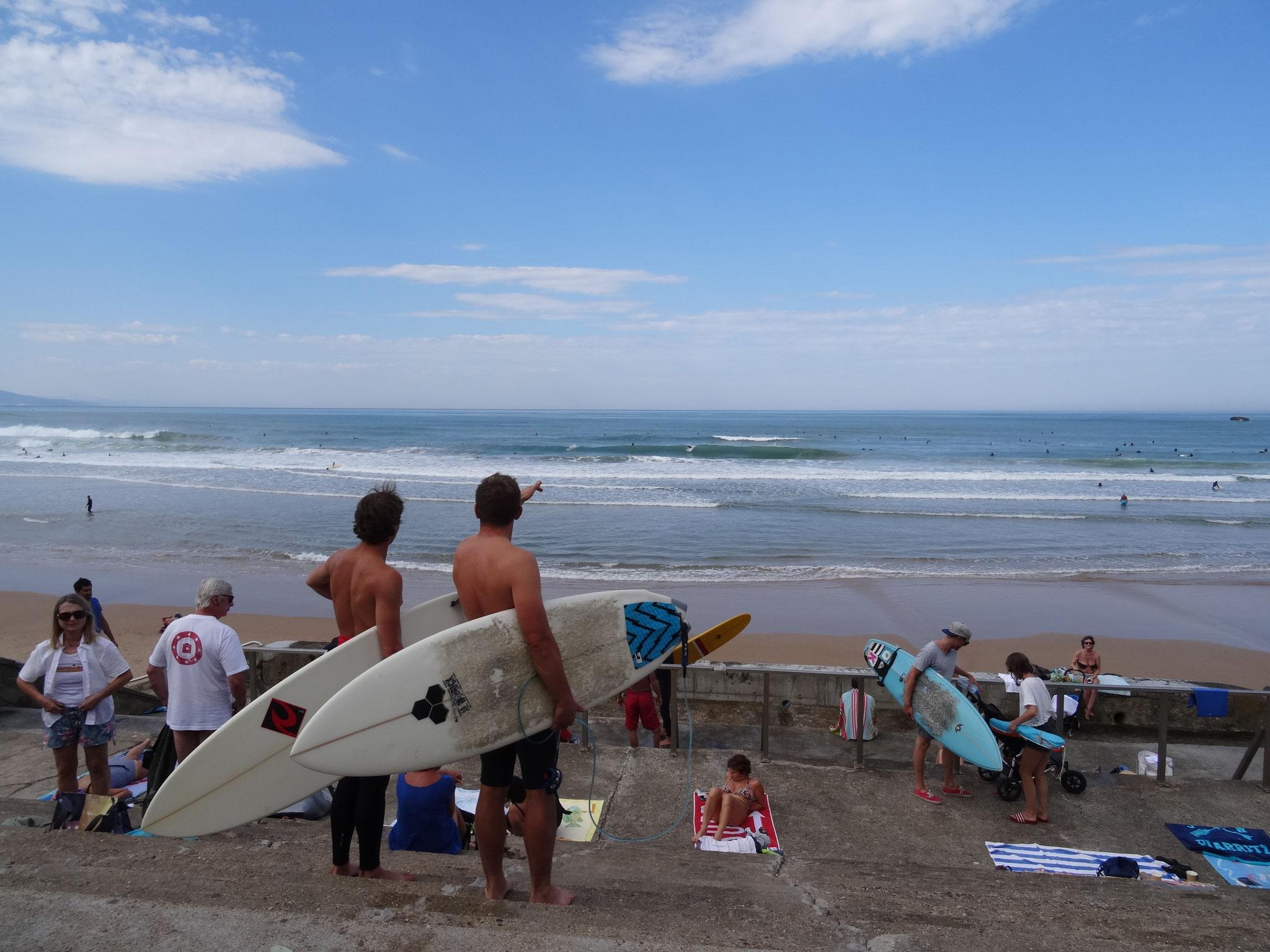 Bild: am Strand von Biarritz