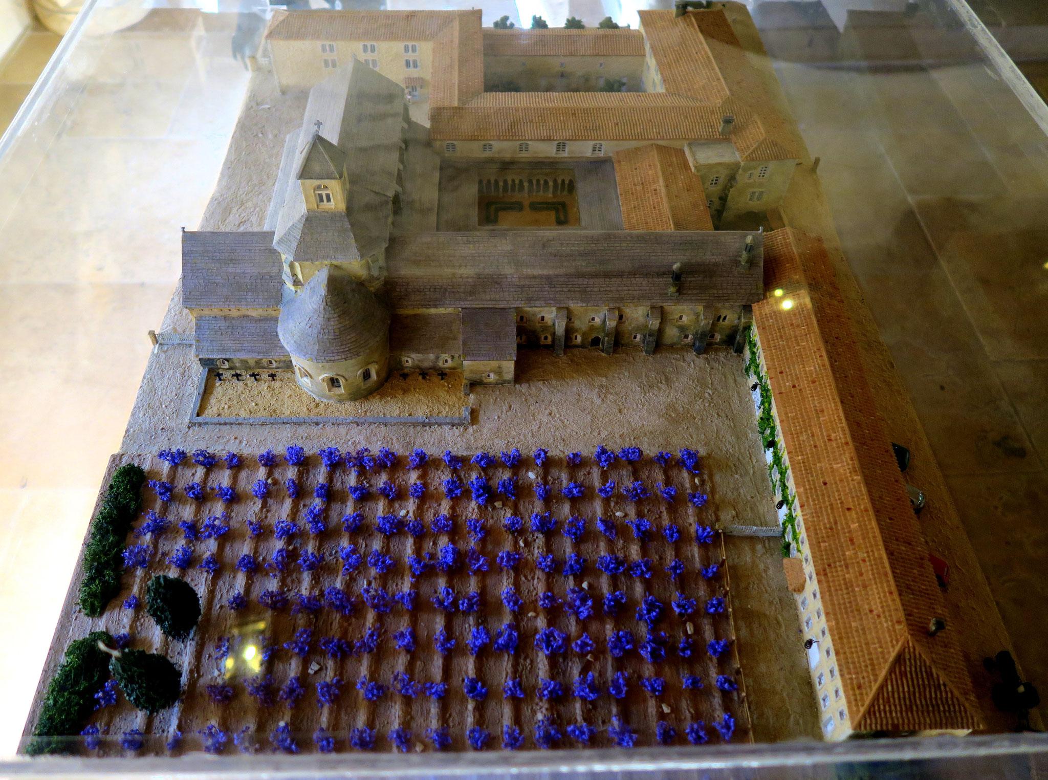 Bild: Modelle der Abtei Notre-Dame de Sénanque, Gordes