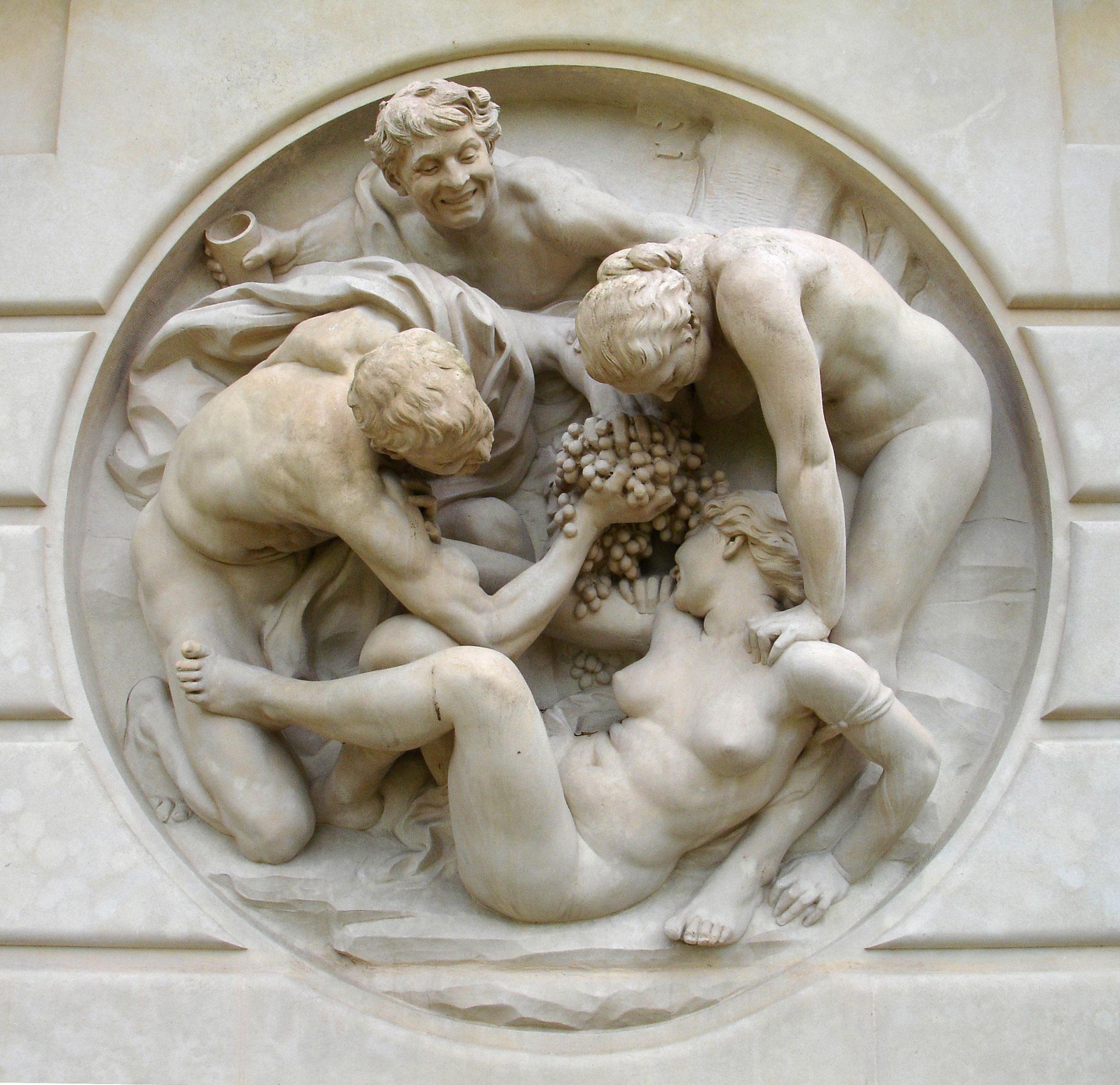 """DALOU, """"Bacchanale"""", sculpture (1891)"""