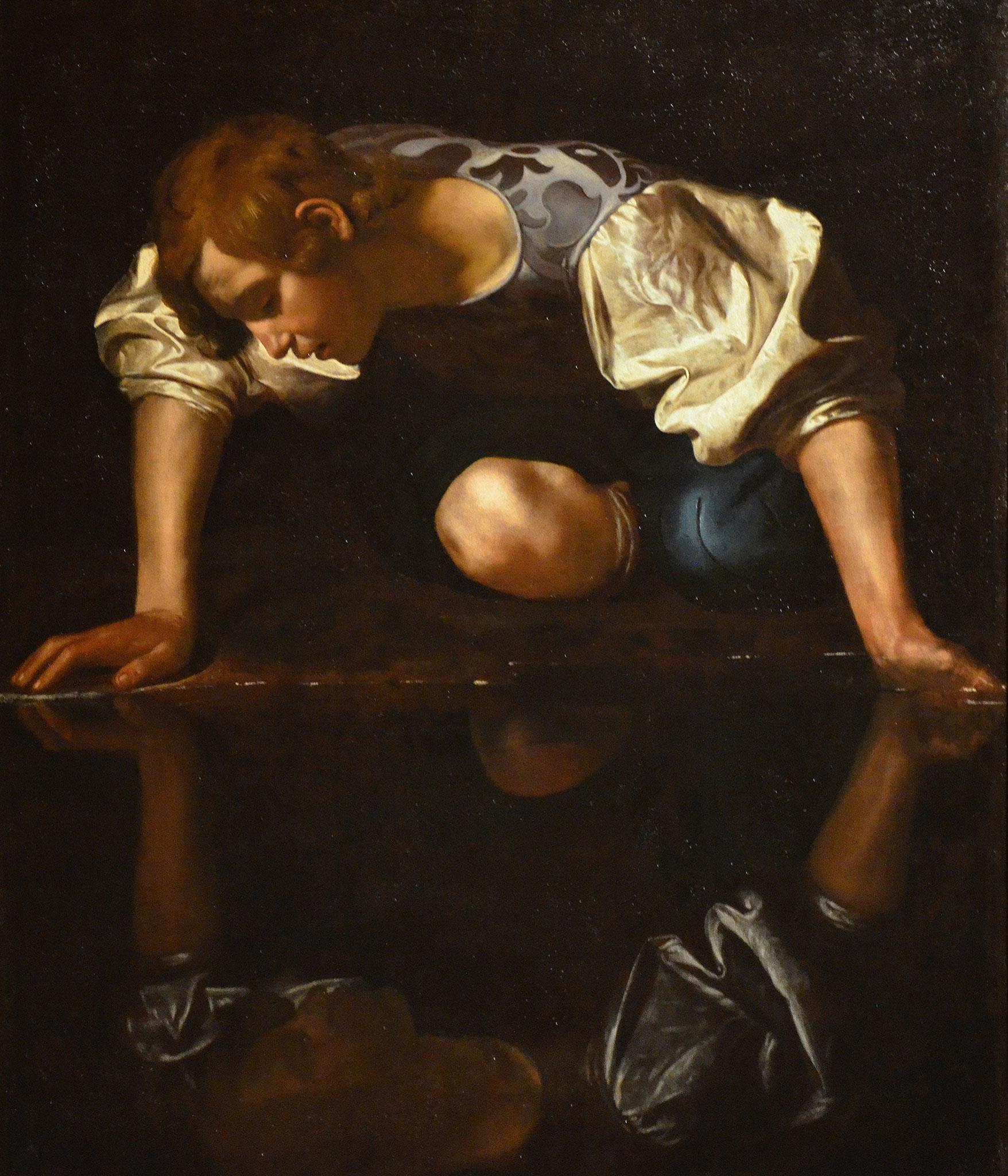 CARAVAGE, Narcisse, 1598-99, huile sur toile
