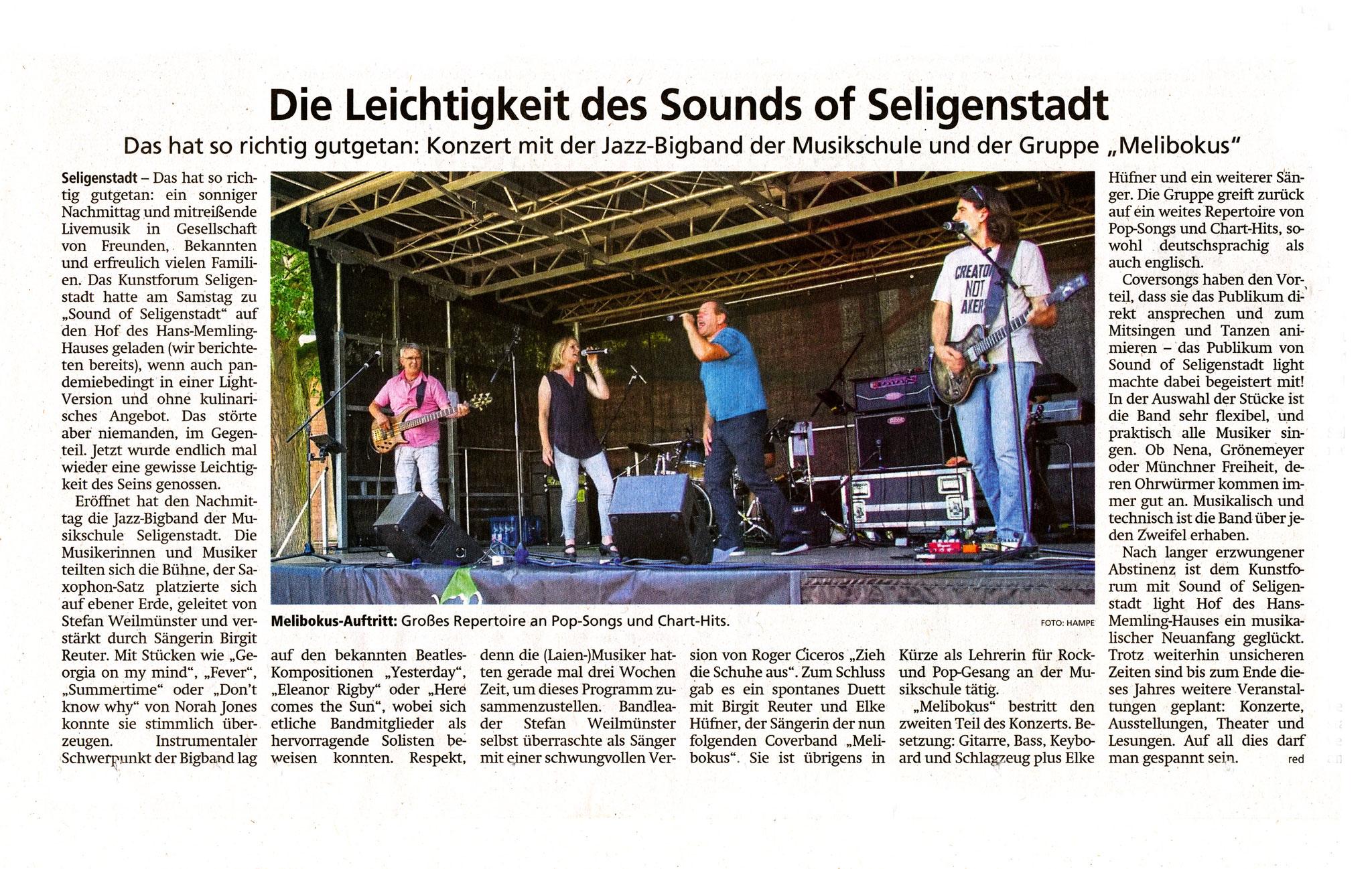 Artikel Offenbach Post, 7. Juli 2021