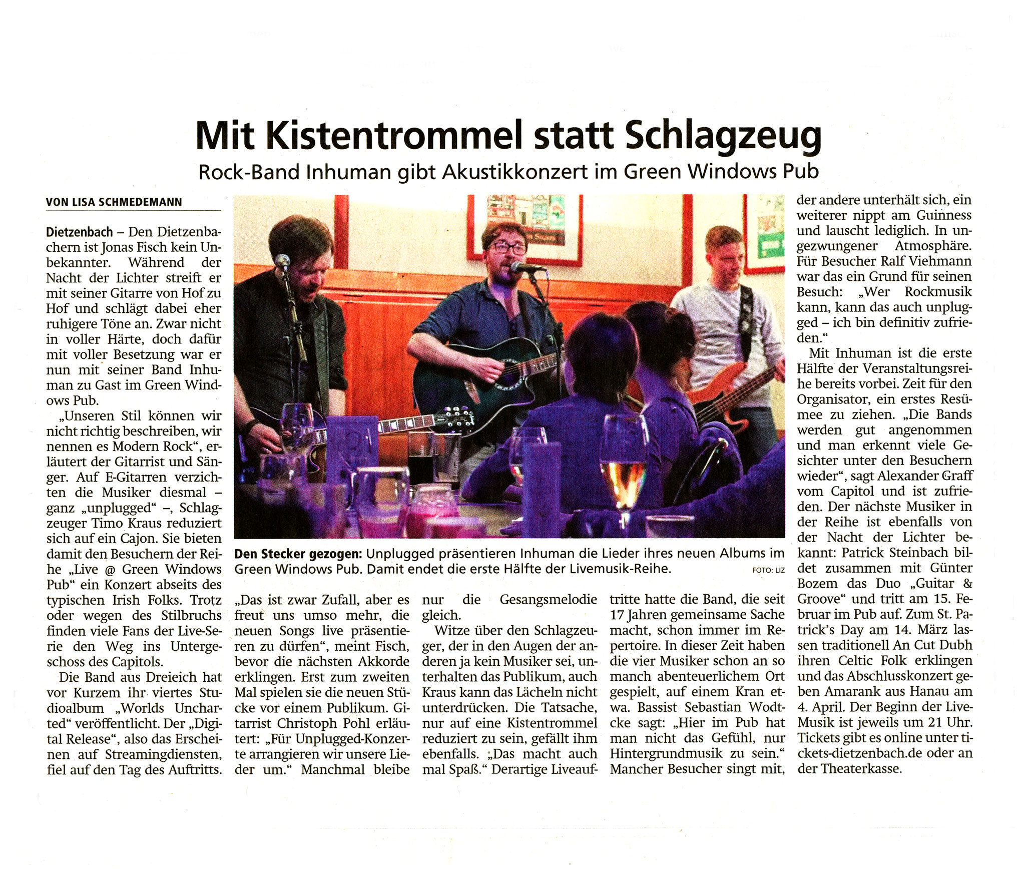 Offenbach Post, 24. Januar 2020