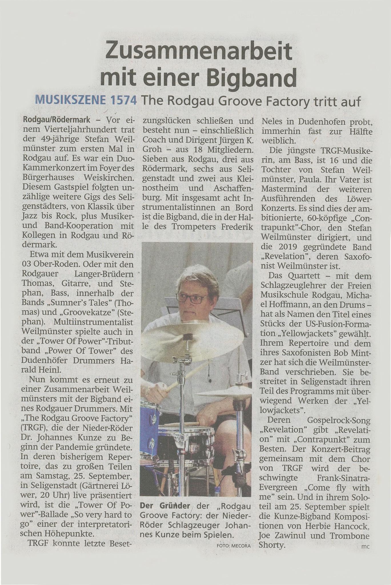 Offenbach Post, 11. September 2021