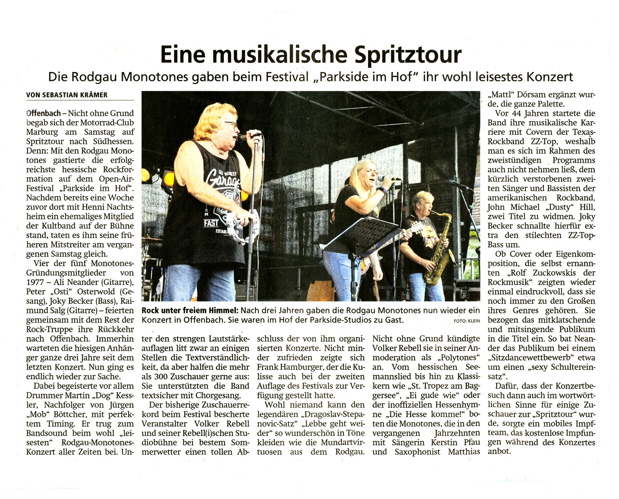 Offenbach Post, 23. August 2021