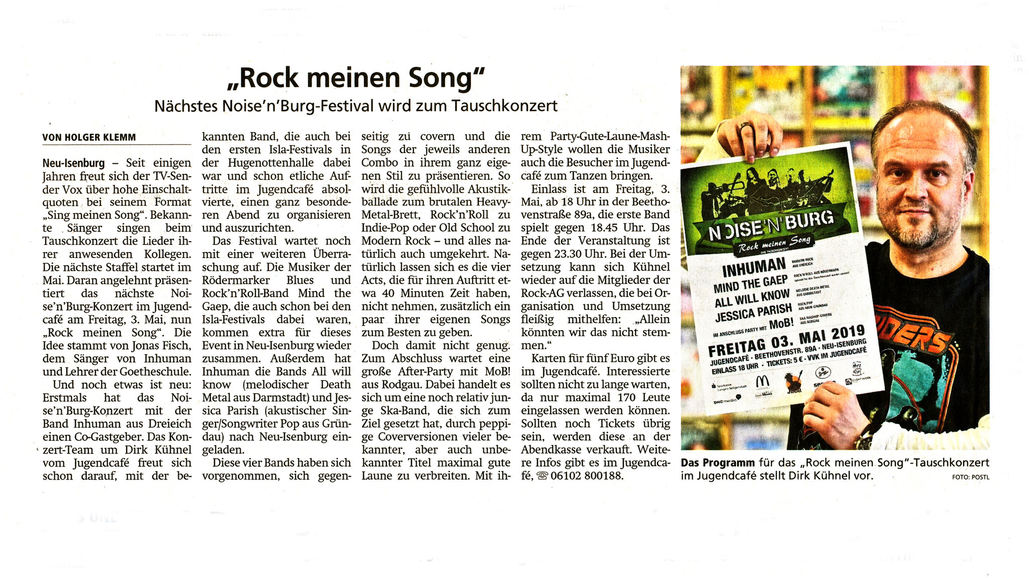 Offenbach Post, 16. April 2019