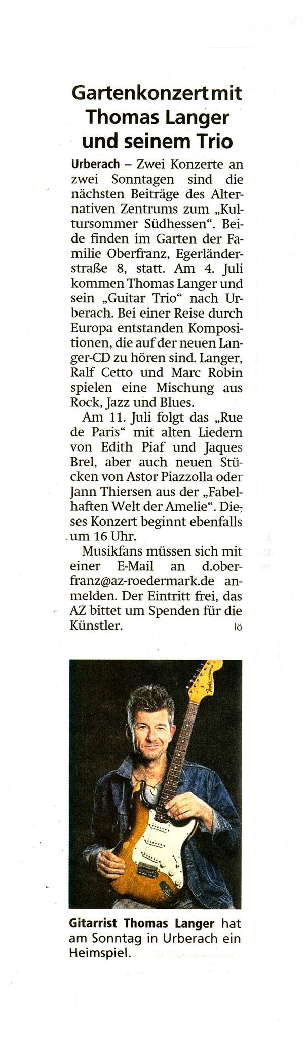 Offenbach Post, 1. Juli 2021
