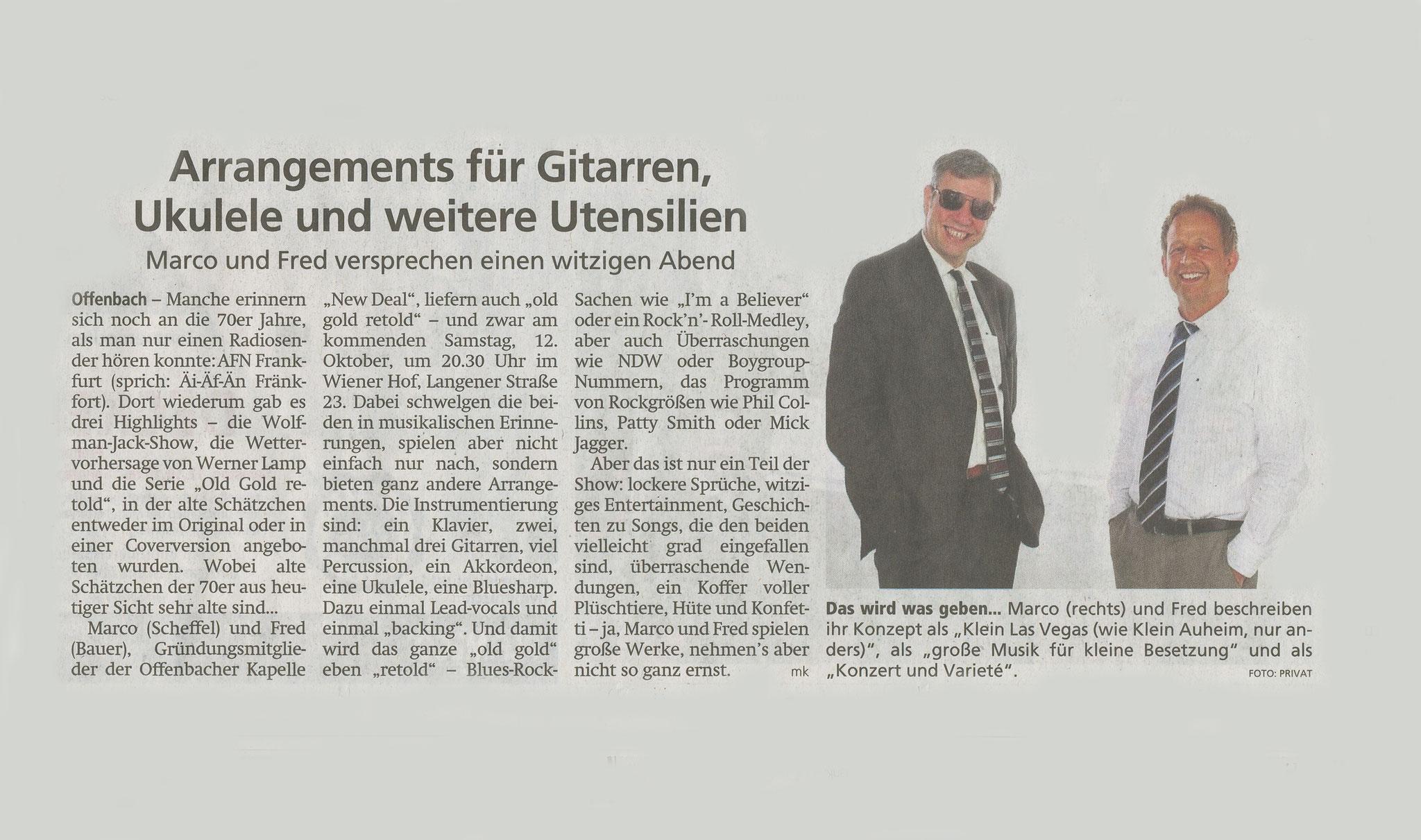 Offenbach Post, 11. Oktober 2019