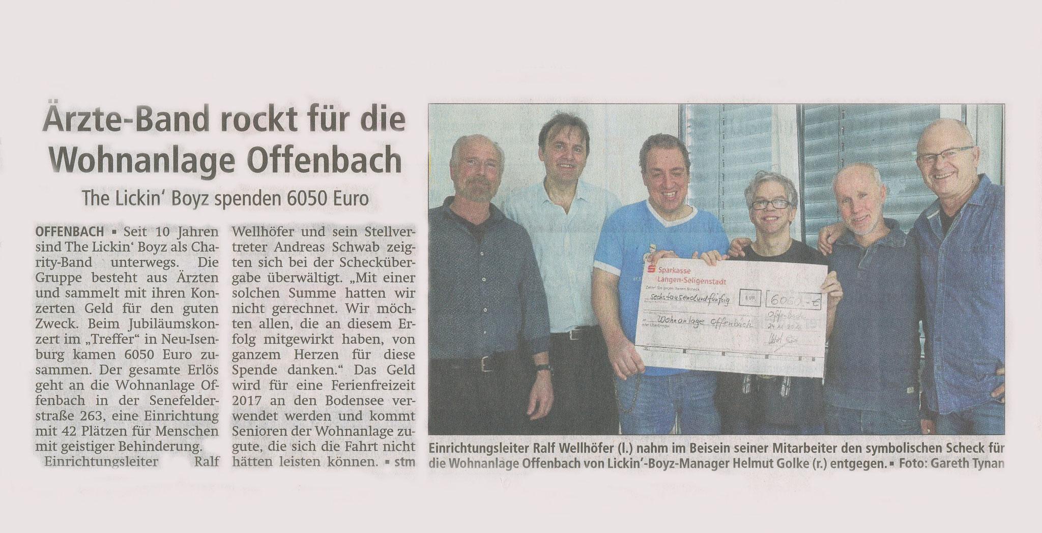 Offenbach Post, 1. Dezember 2016