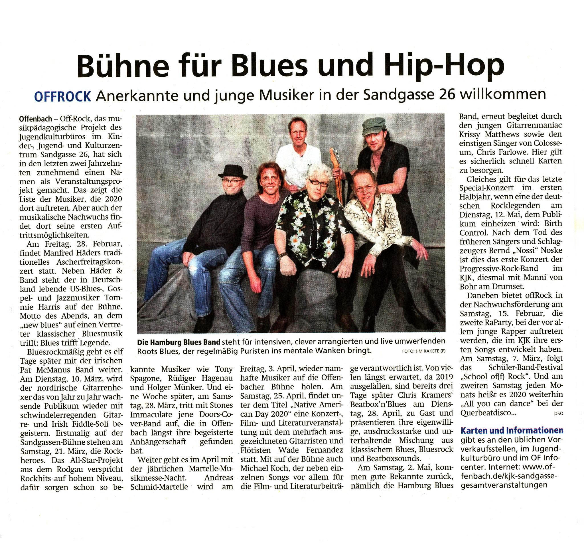 Offenbach Post 29. Januar 2020