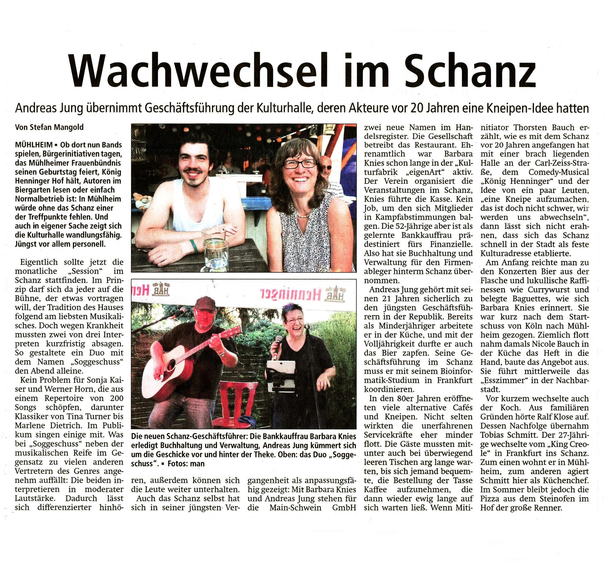 Offenbach Post, 31. Juli 2018
