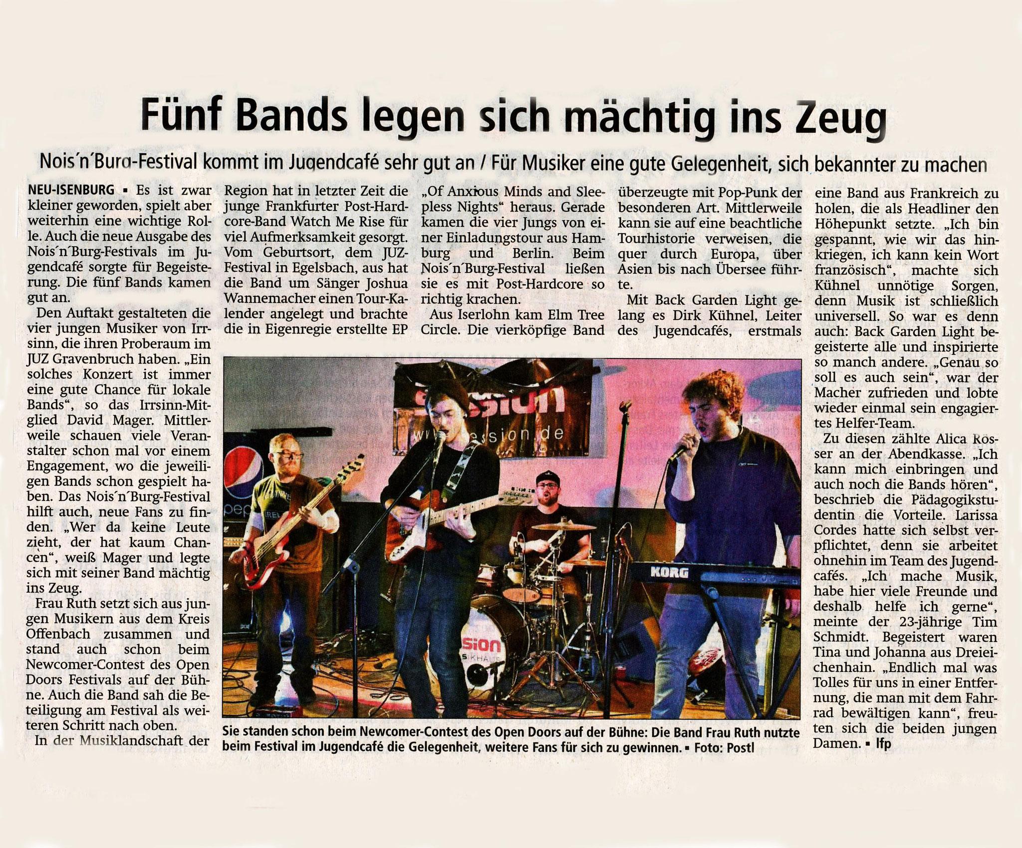 Offenbach Post, 24. Oktober 2018