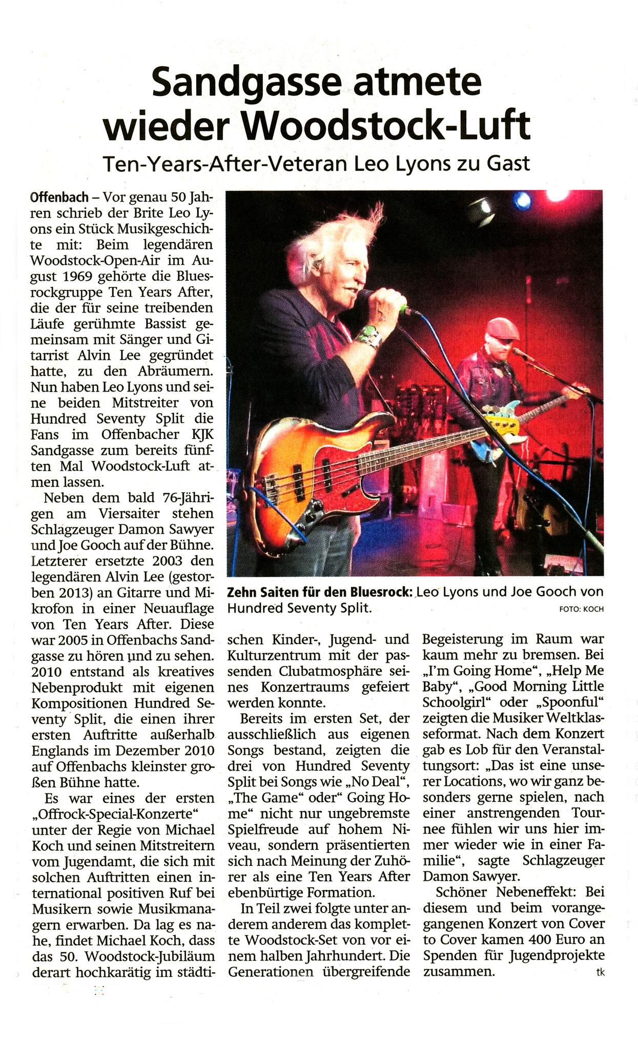 Offenbach Post, 25. Oktober 2019