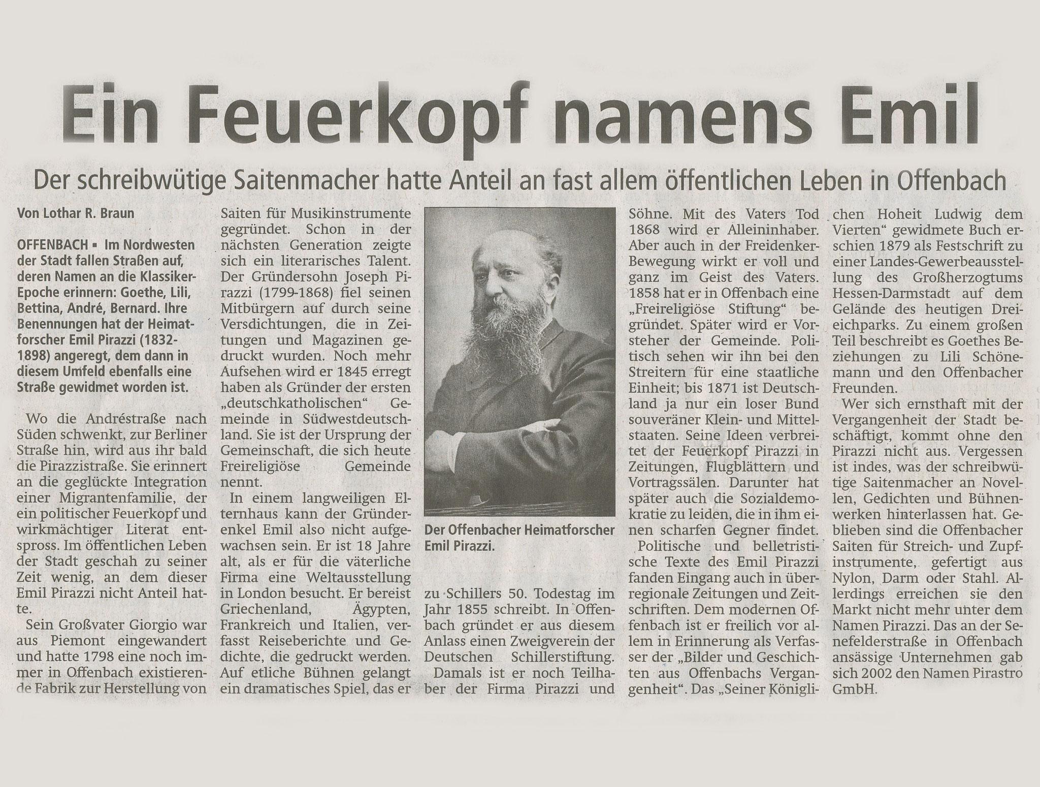 Offenbach Post, 13. Februar 2017