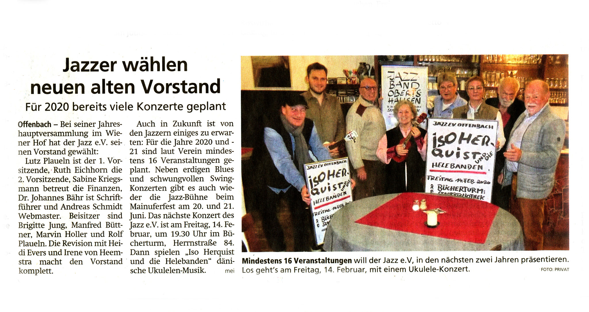Offenbach Post, 16. Januar 2020