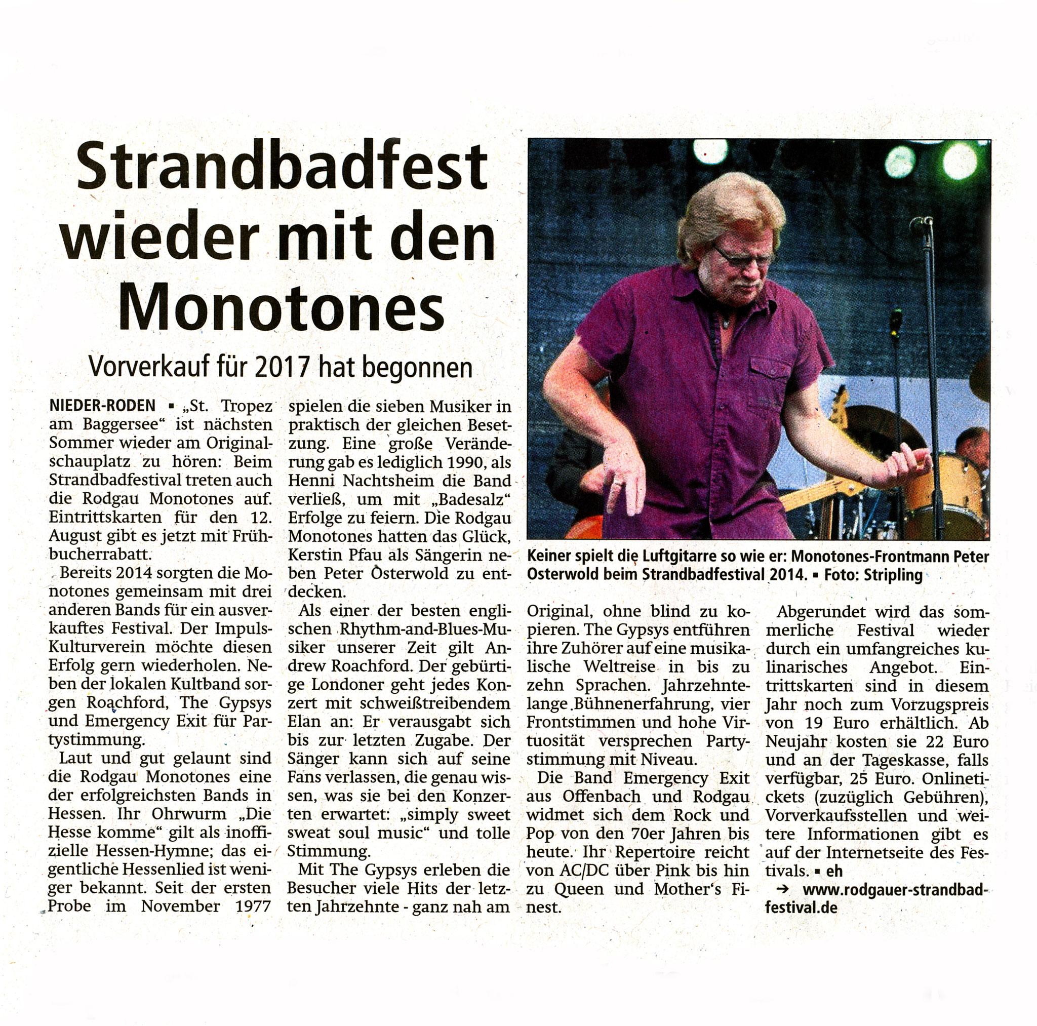 Offenbach Post, 4. November 2016