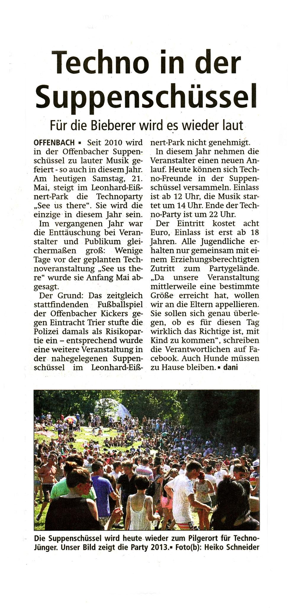 Offenbach Post, 21. Mai 2016