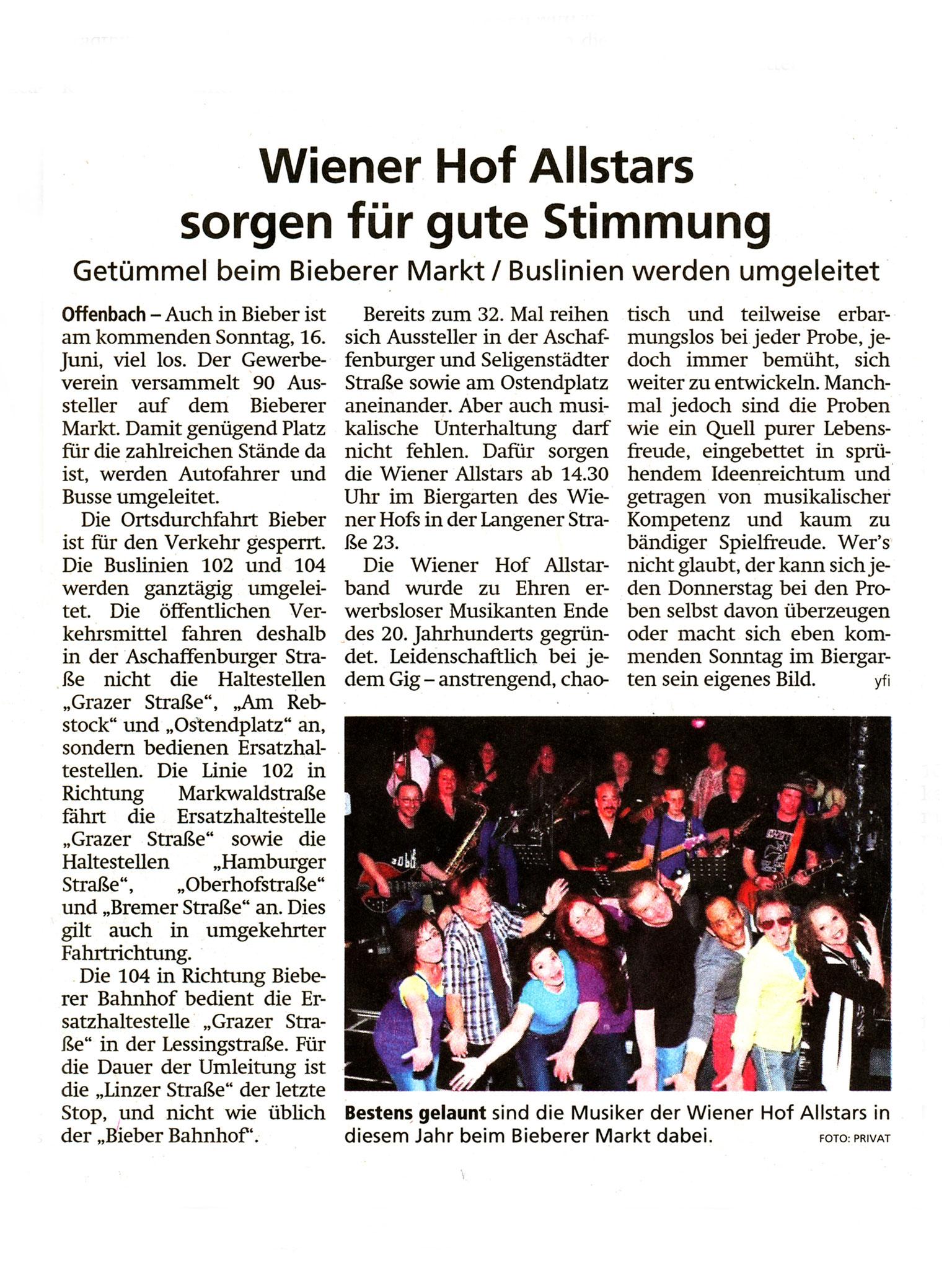Offenbach Post, 14. Juni 2019
