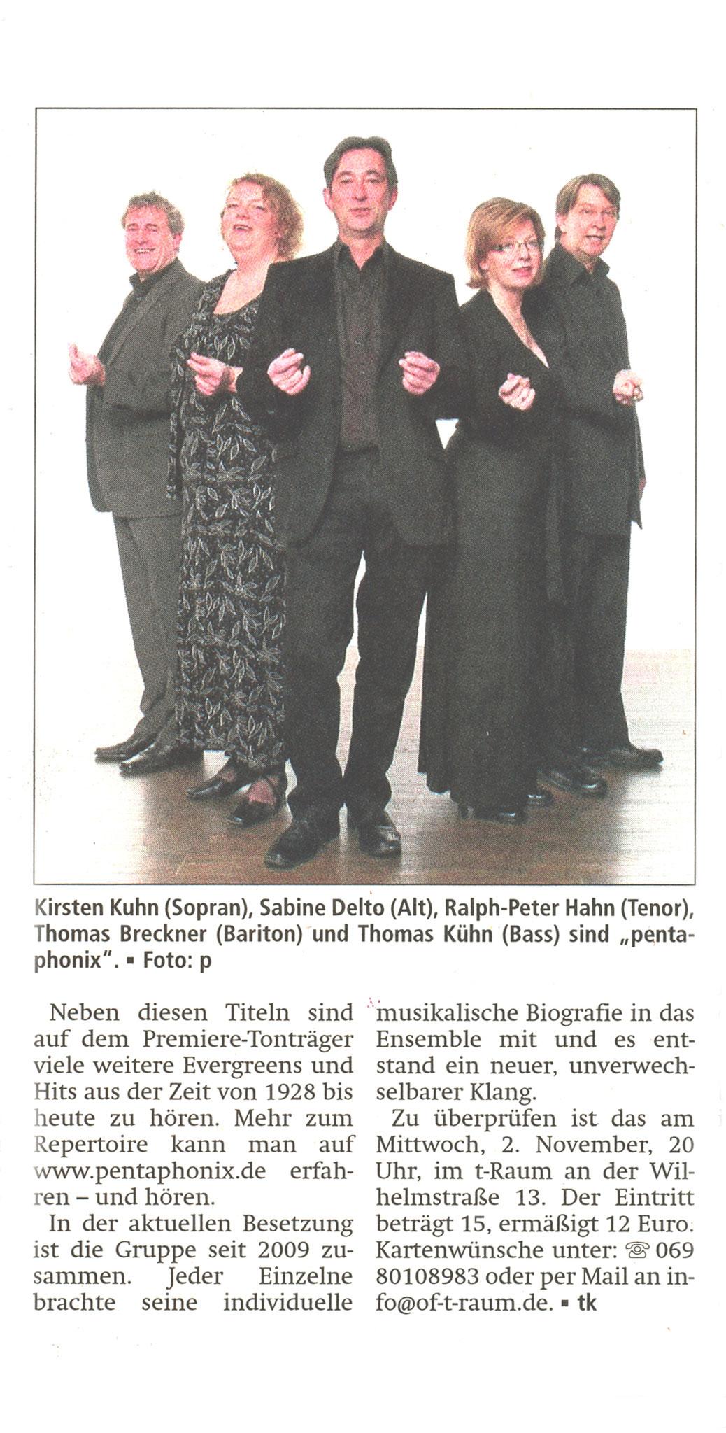 Offenbach Post, 26. Oktober 2016