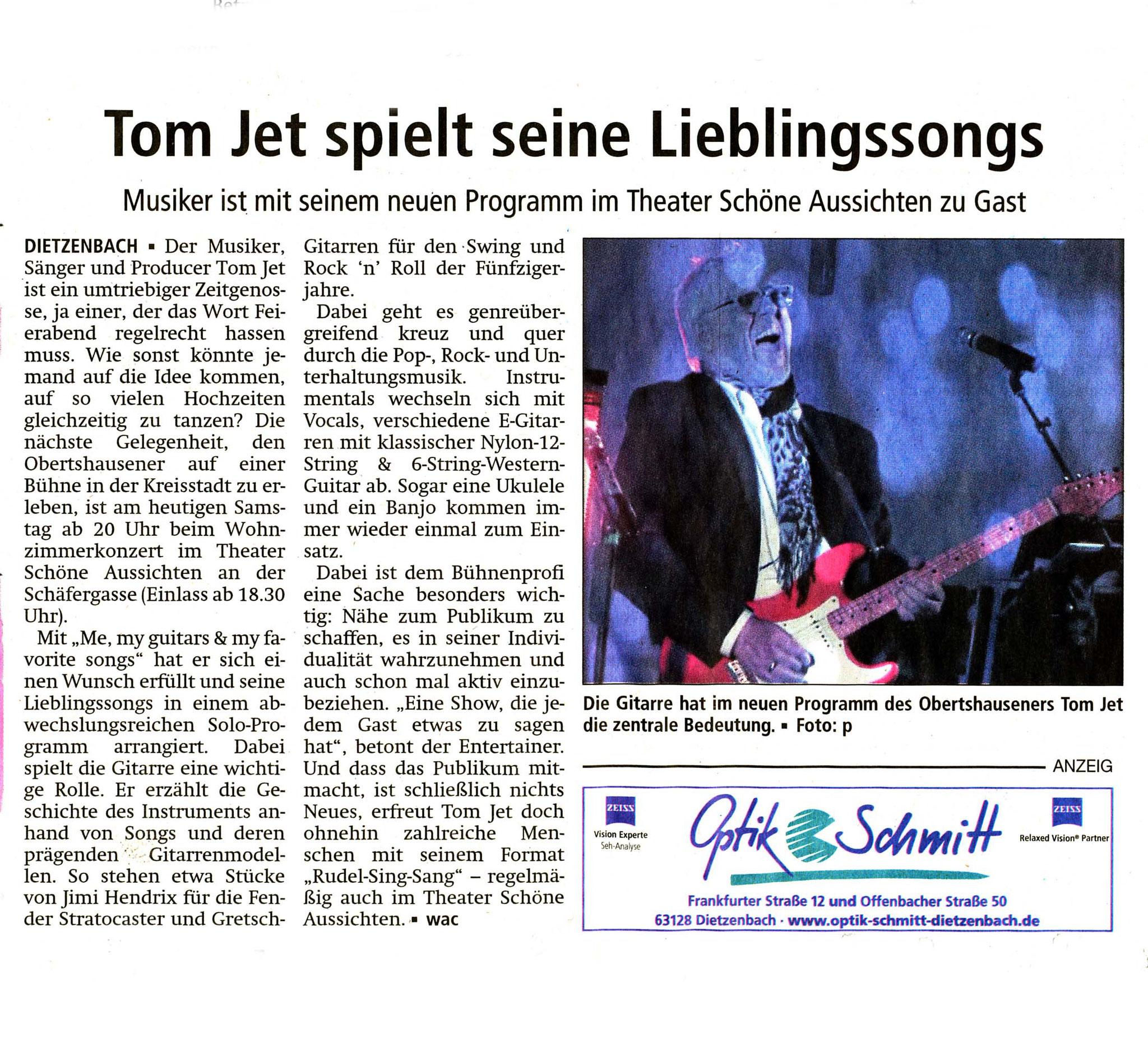 Offenbach Post, 13. Januar 2018