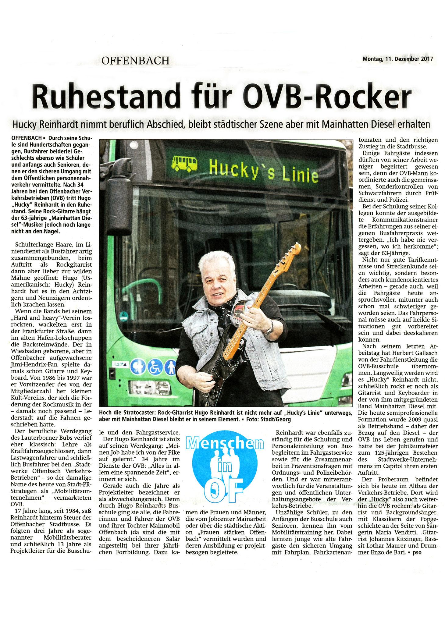 Offenbach Post, 11. Dezember 2017