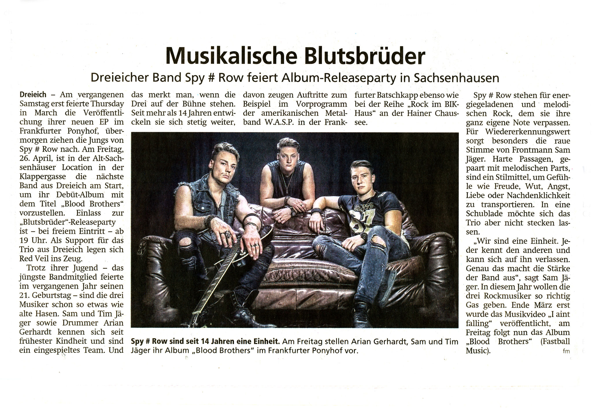 Offenbach Post, 24. April 2019